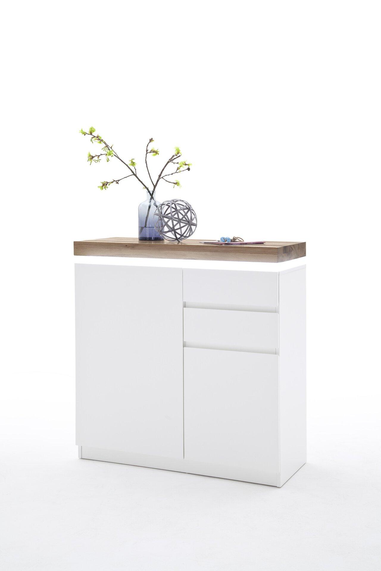 Schuhschrank ROMINA MCA furniture Holzwerkstoff weiß 38 x 97 x 91 cm
