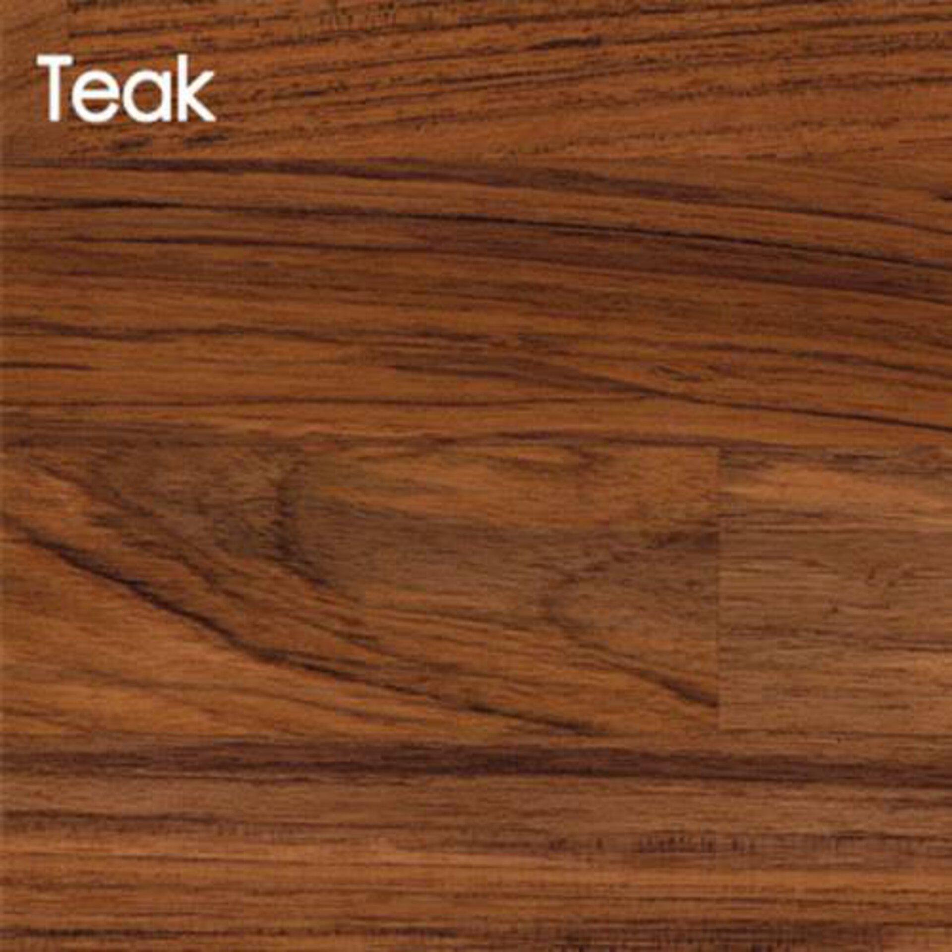 Arbeitsplatte aus Massivholz in der Ausführung Teak