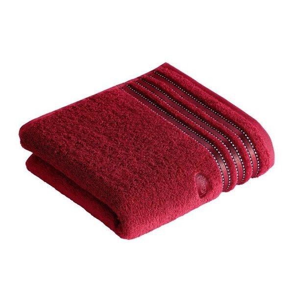 Handtuch Vossen Textil 390 rubin