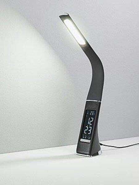Schreibtischleuchte Casa Nova Kunststoff braun ca. 10 cm x 48 cm x 7 cm
