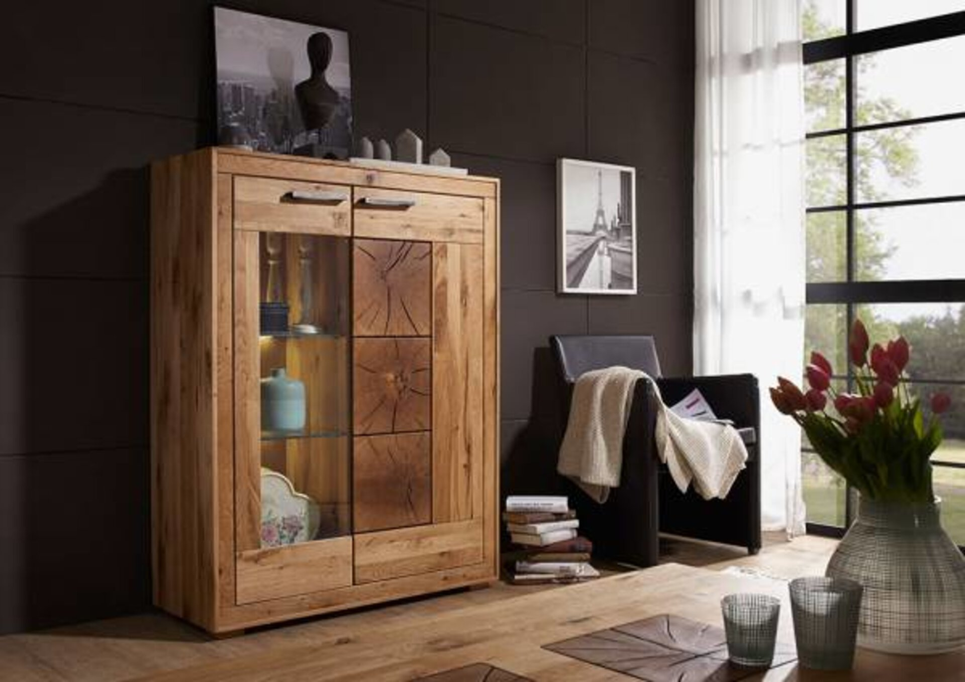 Highboard WZ-0315 CELECT Holz mehrfarbig 40 x 135 x 103 cm