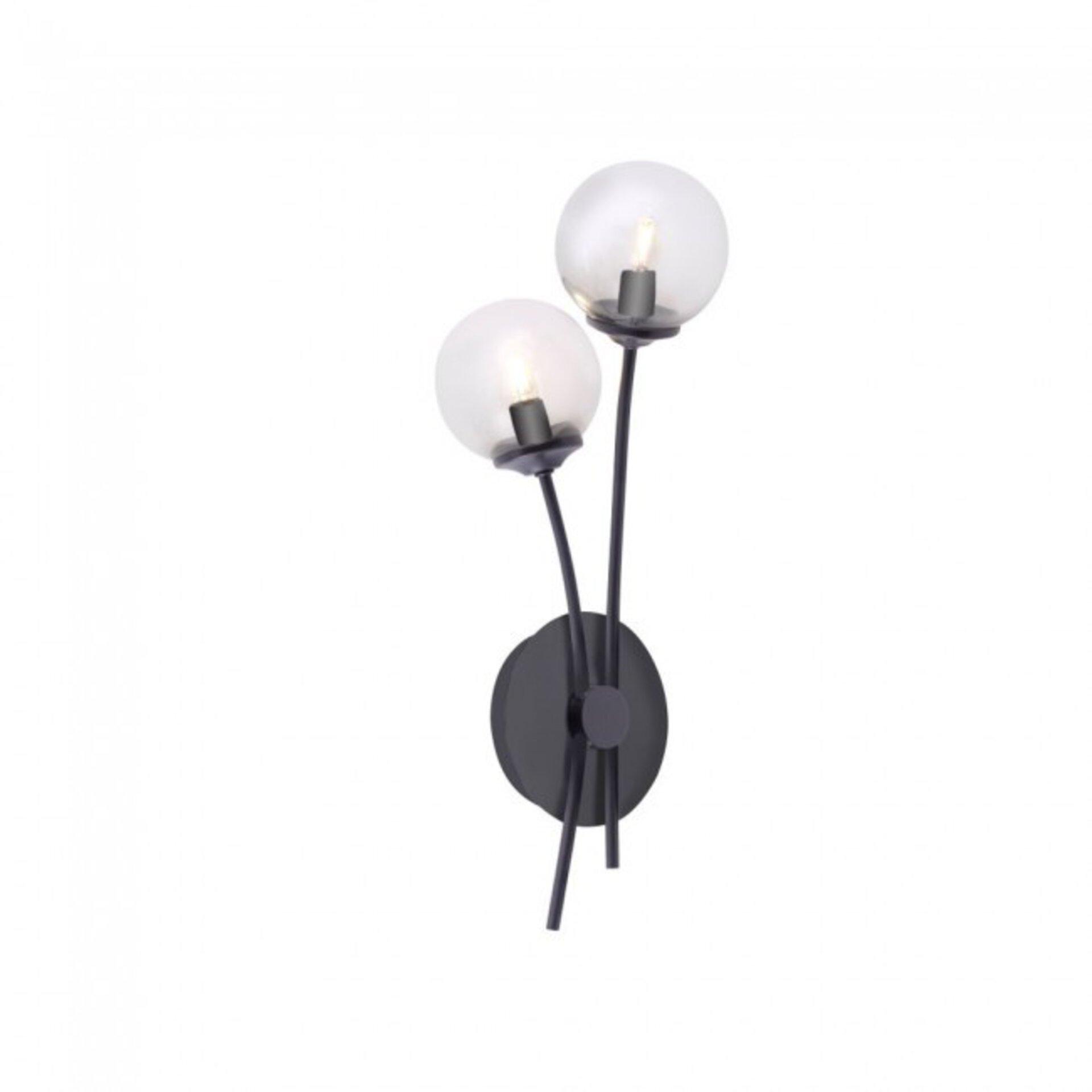 Wandleuchte WIDOW Paul Neuhaus Metall schwarz 21 x 15 x