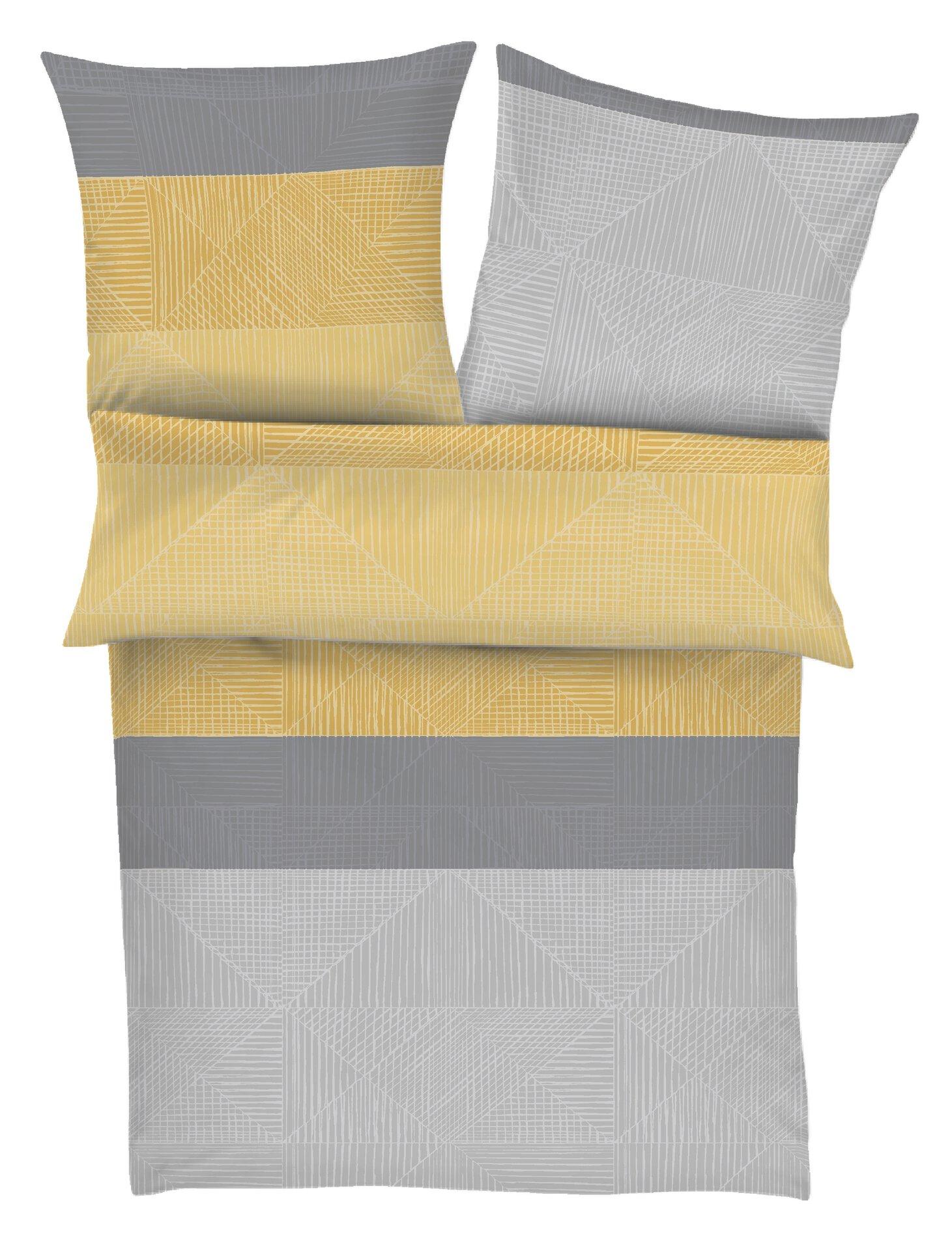 Satin-Bettwäsche bugatti Textil gelb 135 x 200 cm