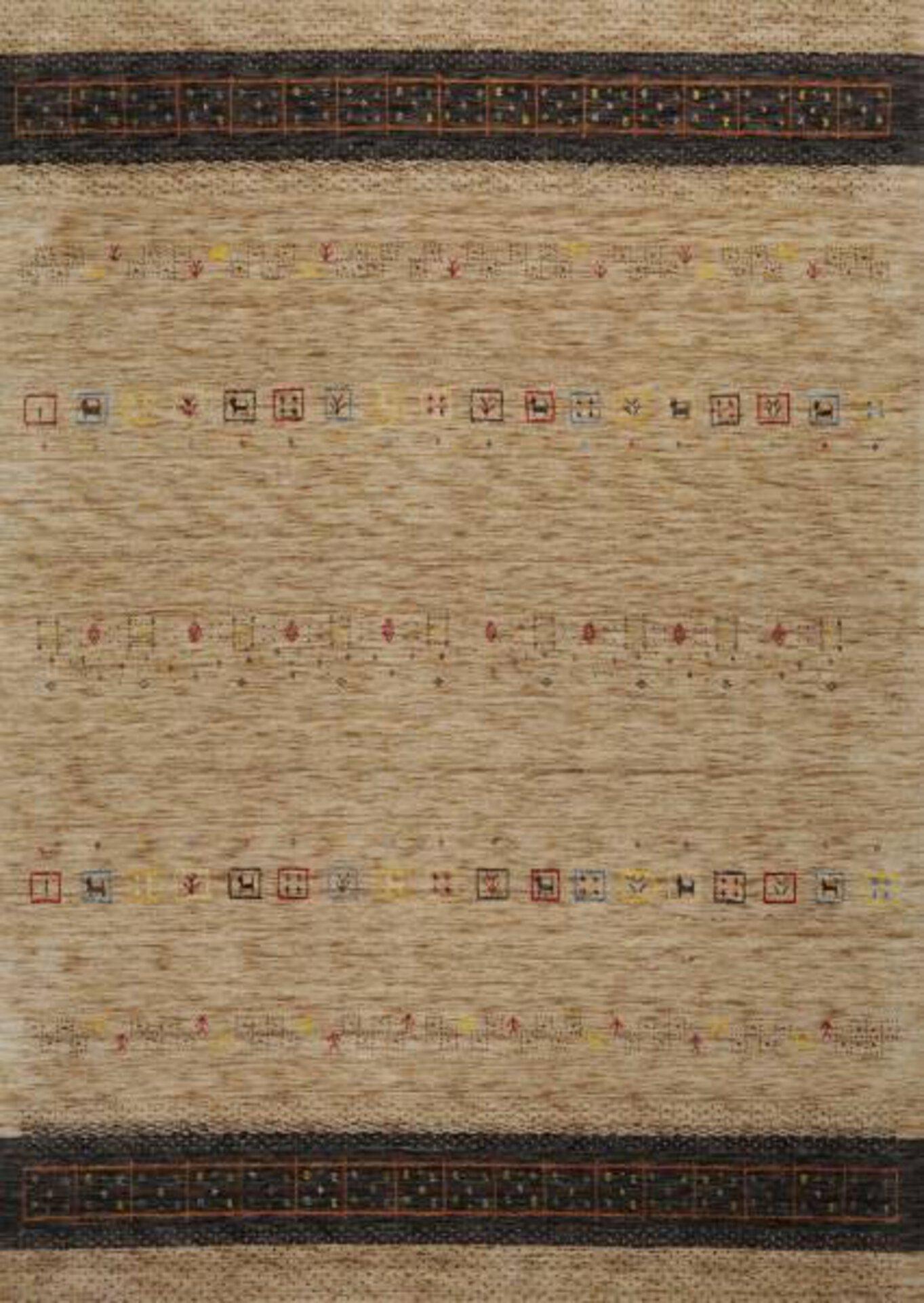 Handwebteppich Lori Star Theko Textil braun 2 x 2 cm