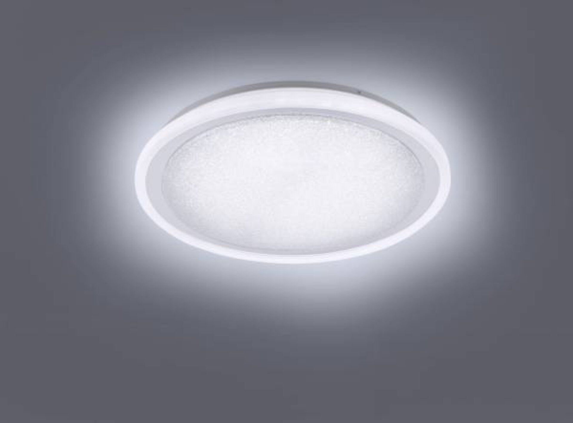 Deckenleuchte MEDINA Leuchtendirekt Metall silber 60 x 11 x 60 cm