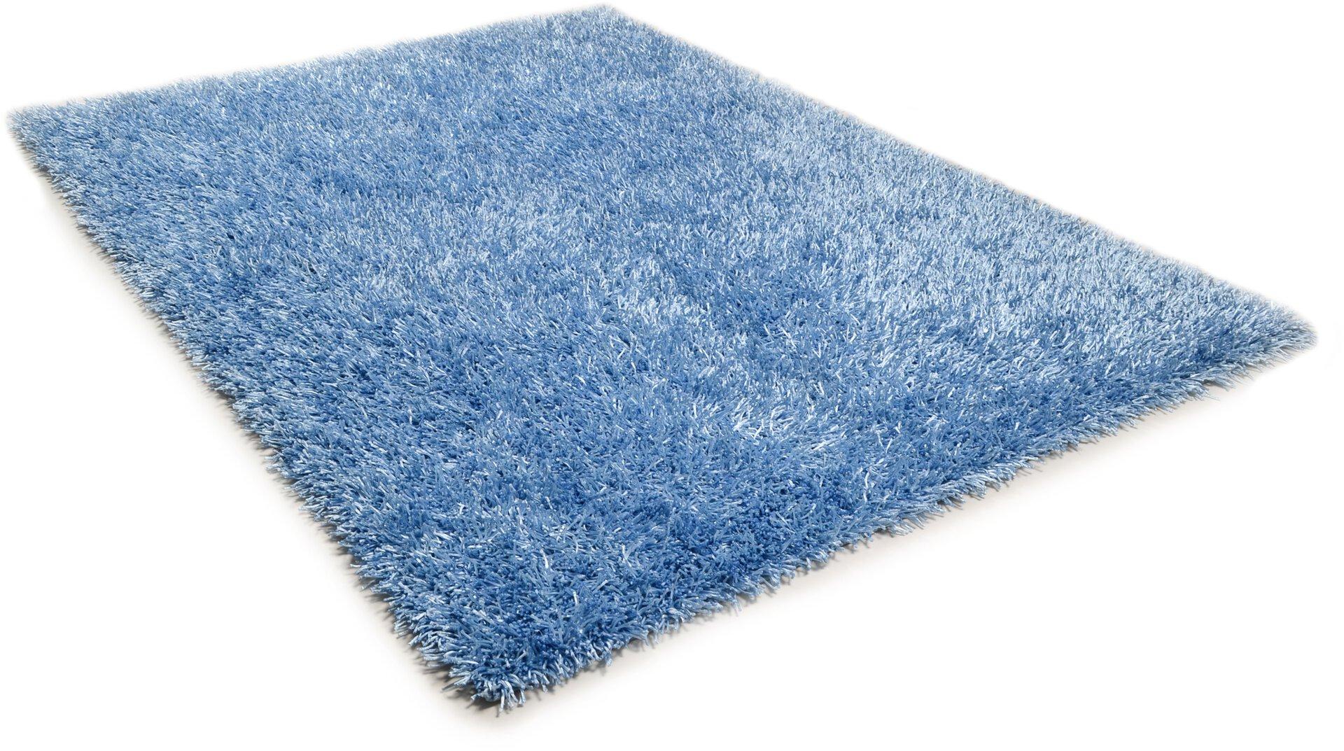 Handtuftteppich Pop Theko Textil Blau 1 cm