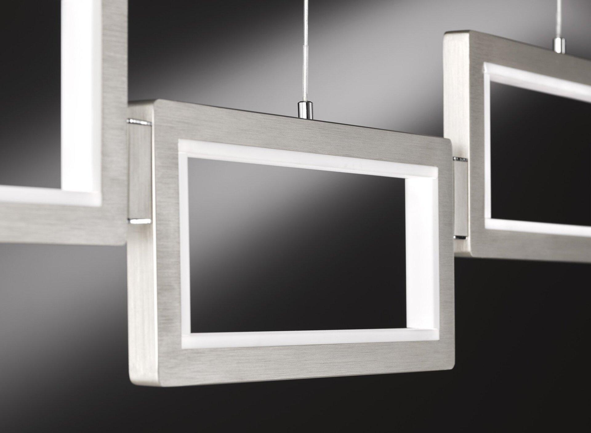Pendelleuchte Viso Wofi Leuchten Kunststoff silber 23 x 150 x 129 cm