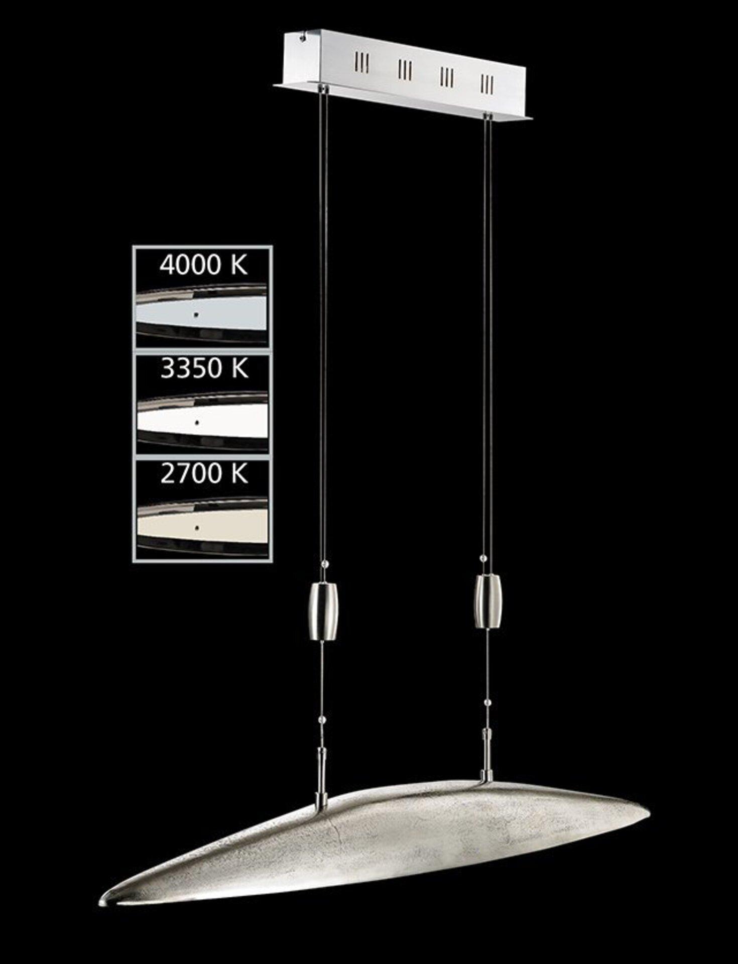 Hängeleuchte Colmar Fischer-Honsel Metall silber 165 x 105 cm