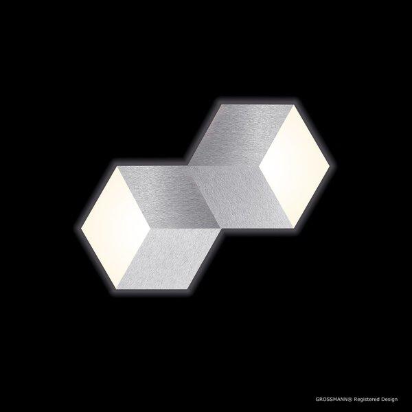 Deckenleuchte Grossmann  Metall alu ca. 31 cm x 4 cm x 53 cm