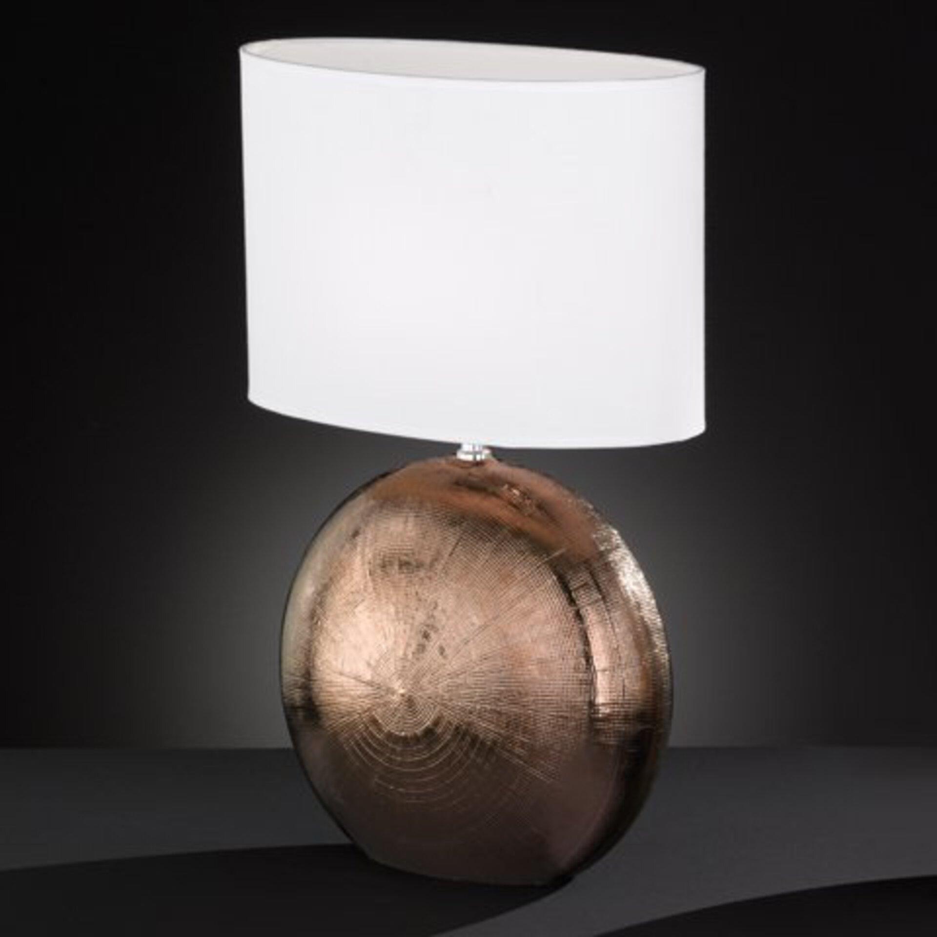 Tischleuchte Foro Fischer-Honsel Keramik braun 17 x 53 x 34 cm