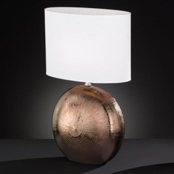 Tischleuchte Fischer-Honsel  Keramik kupfer, chrom ca. 17 cm x 53 cm x 34 cm