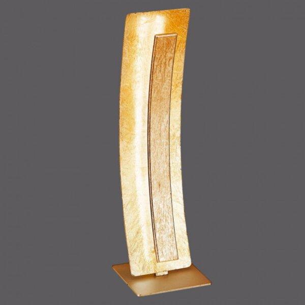 Tischleuchte Paul Neuhaus Metall gold ca. 12 cm x 41 cm x 12 cm