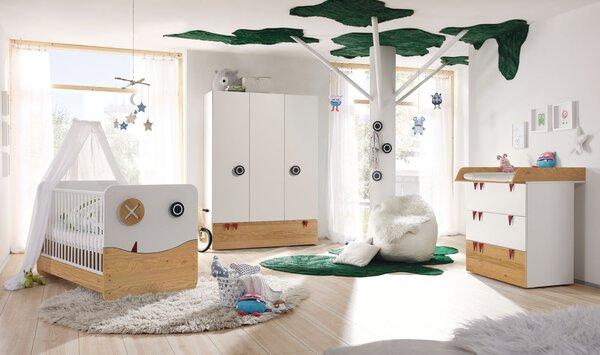Babyzimmer now! by Hülsta Holzwerkstoff schneeweiss ca. 53 cm x 192 cm x 135 cm