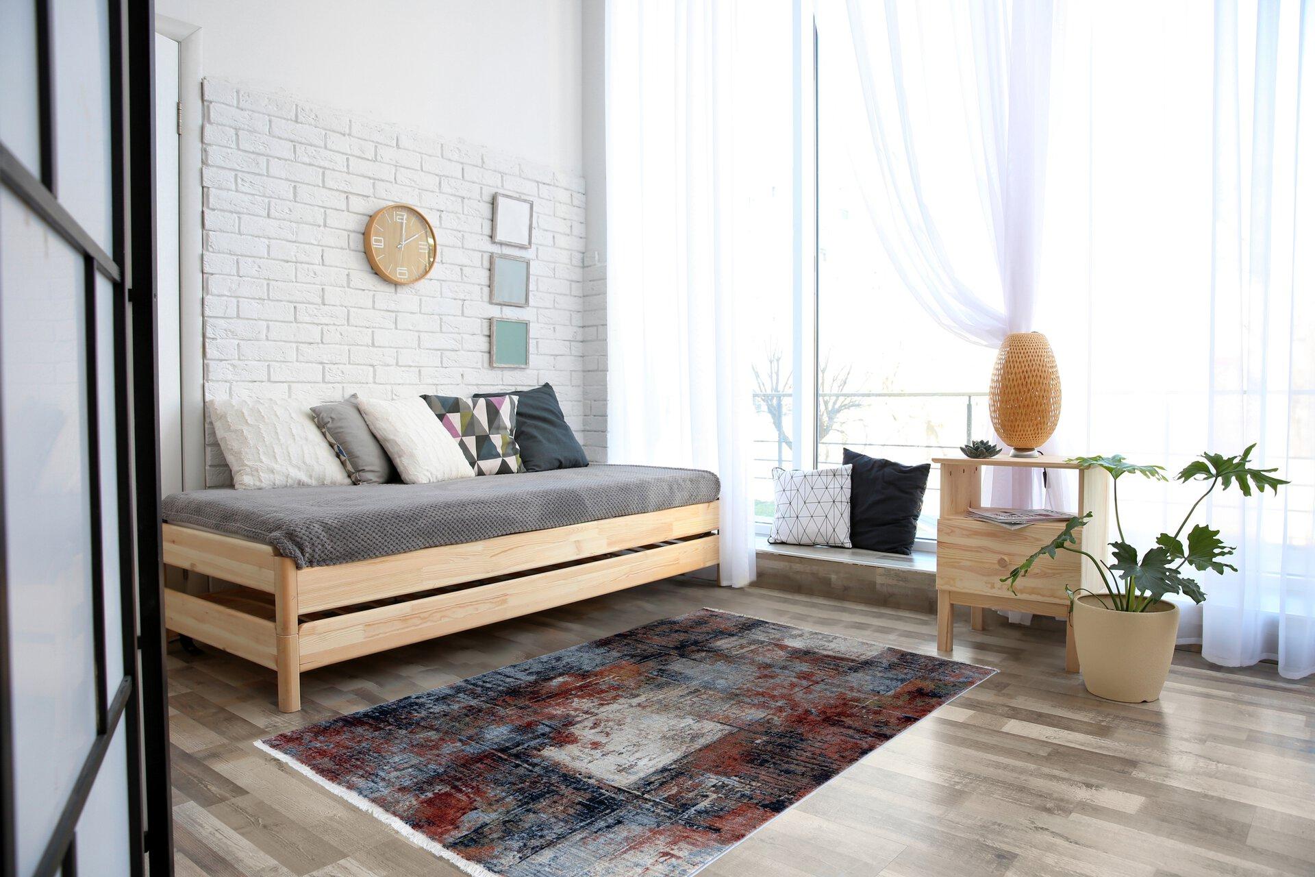 Maschinenwebteppich Sena Trendline Textil mehrfarbig 80 x 1 x 160 cm