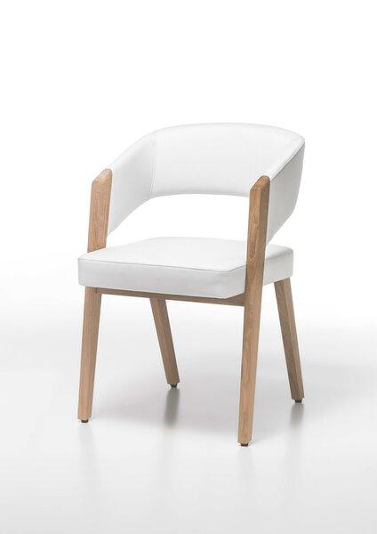 Stuhl Decker Holzwerkstoff Leder weiß