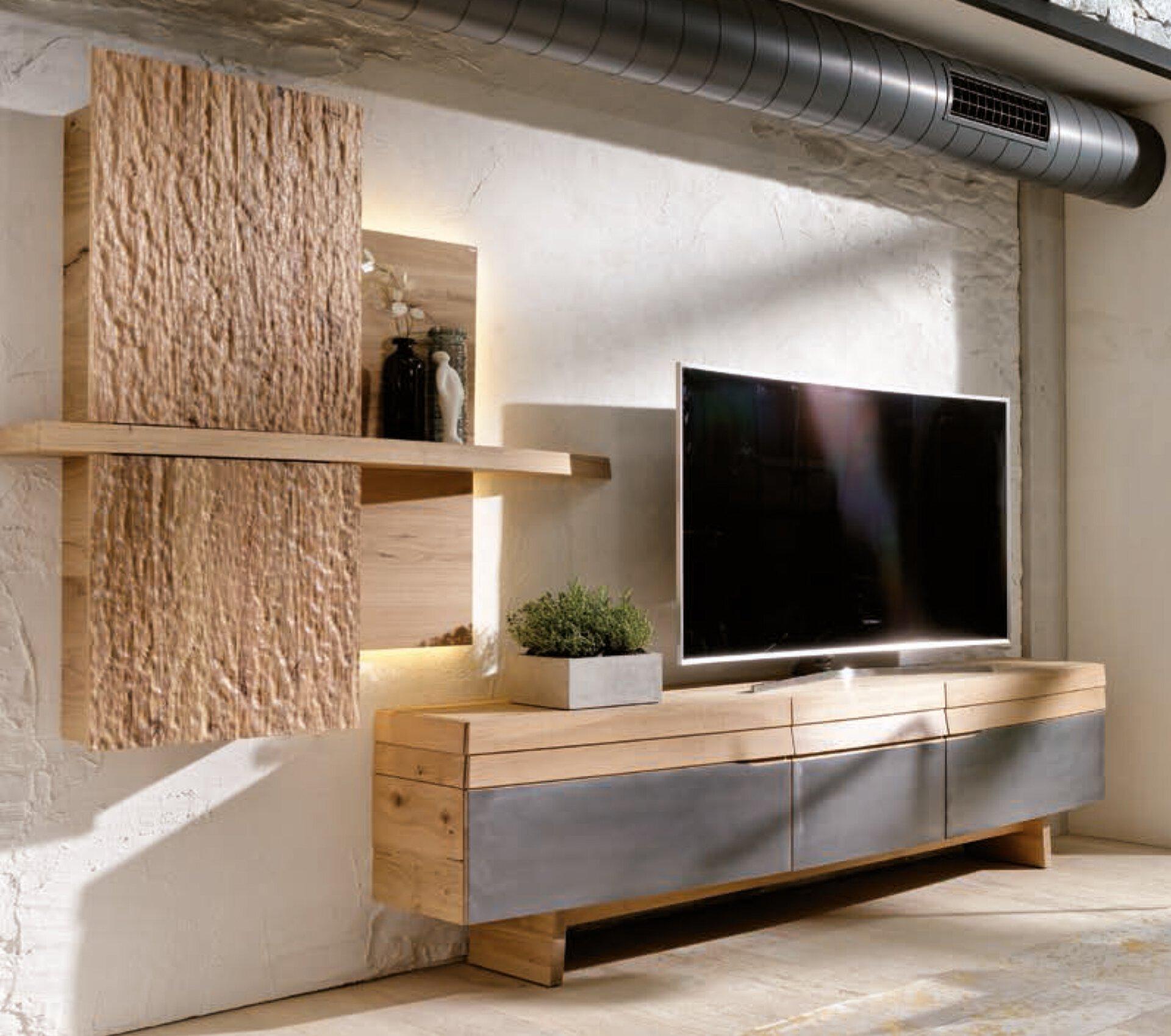 Wohnwand V-ORGANO Voglauer Holzwerkstoff 55 x 212 x 326 cm