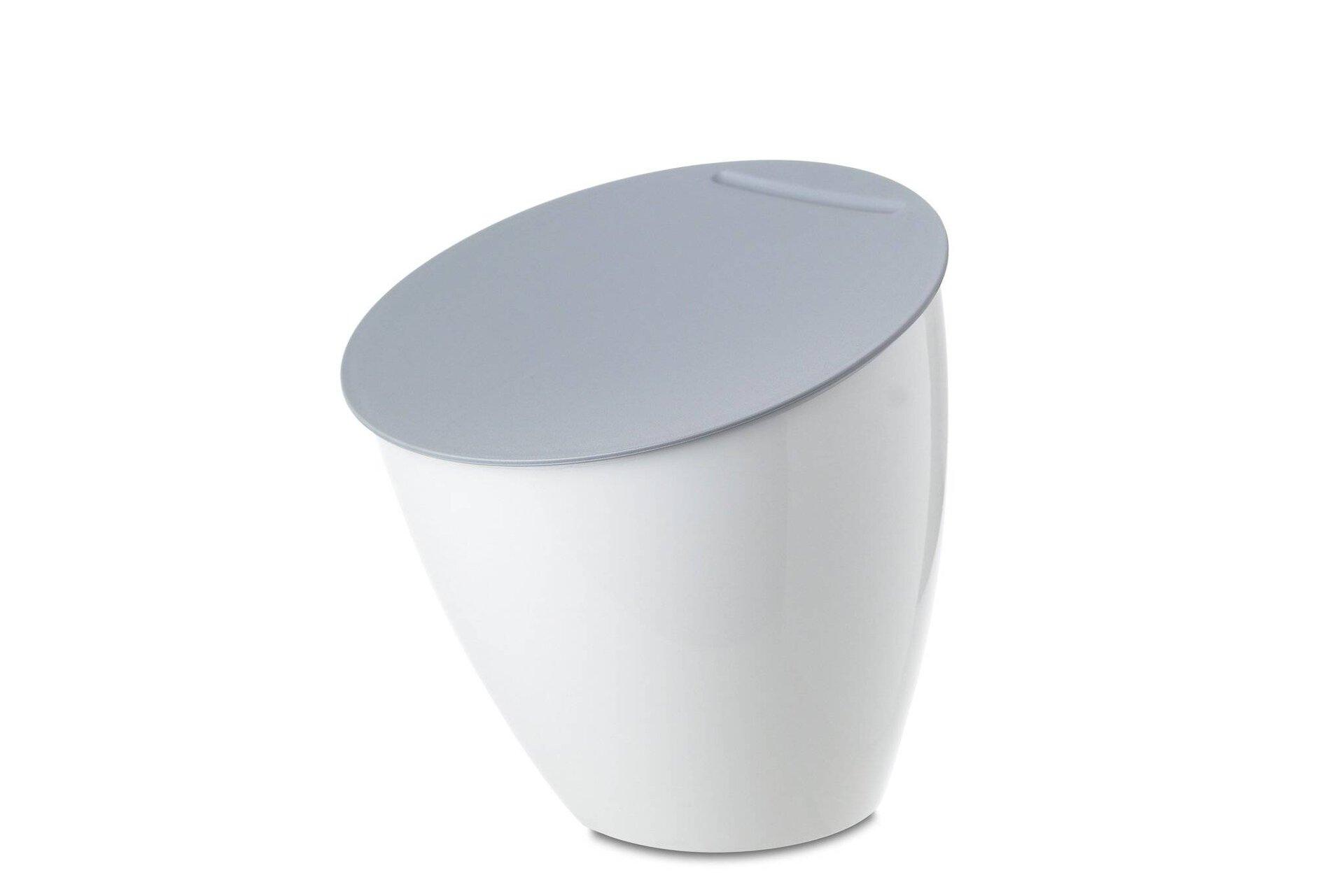 Müllbehälter calypso MEPAL Kunststoff weiß 17 x 18 x 17 cm