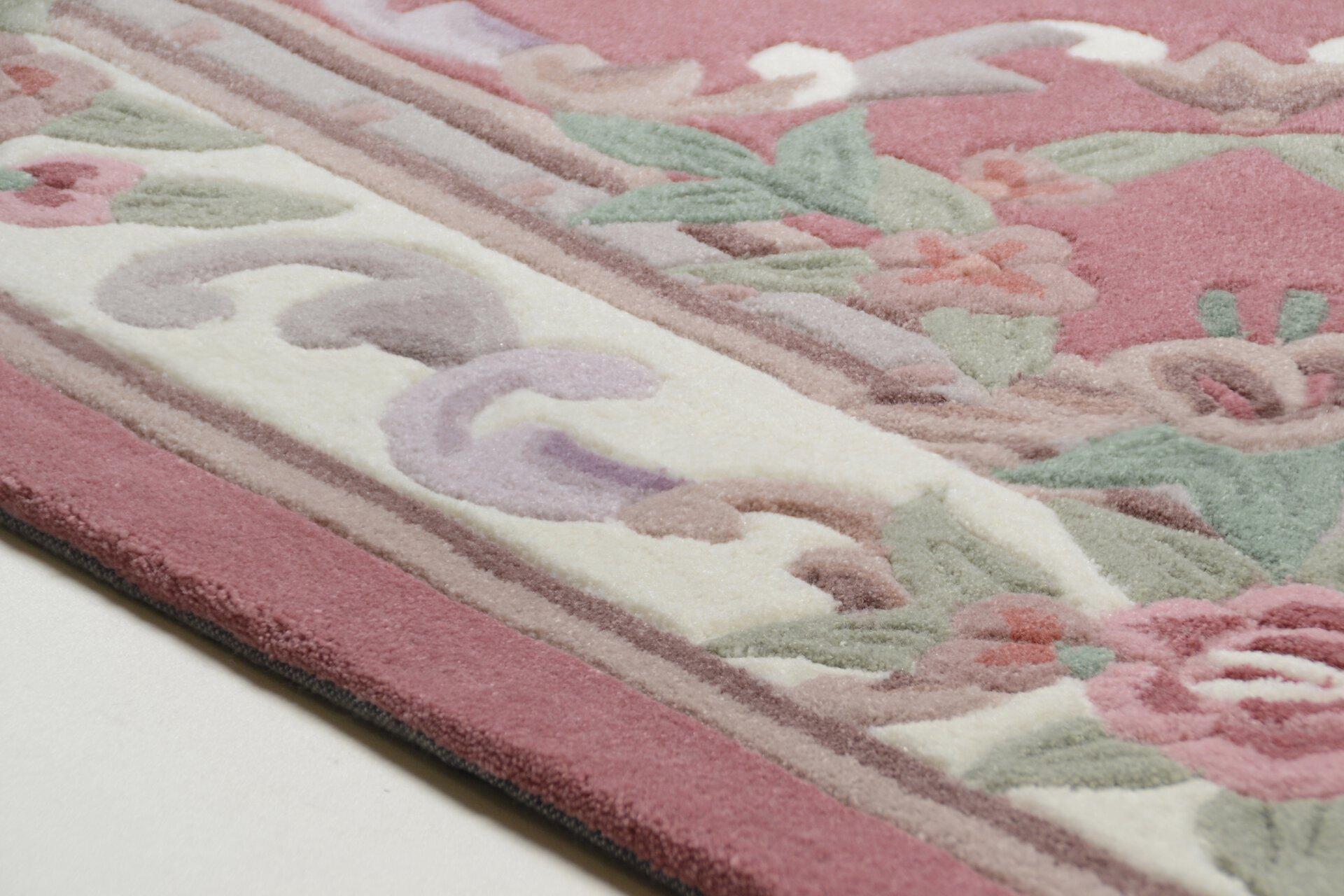 Handtuftteppich Ming Theko Textil rosa 1 x 2 cm