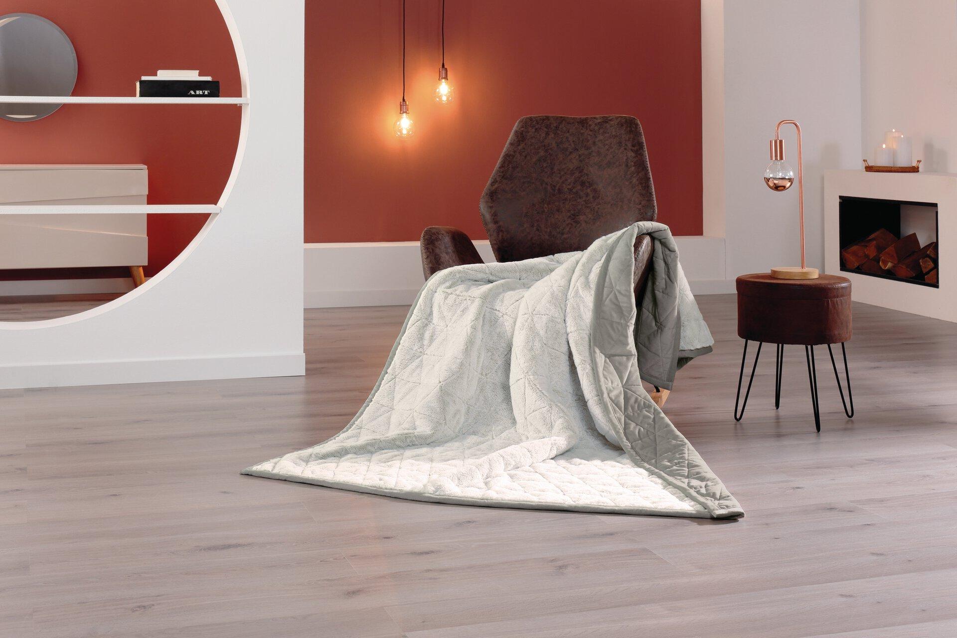 Wendedecke Kuscheltraum Ambiente Trendlife Textil silber 150 x 200 cm