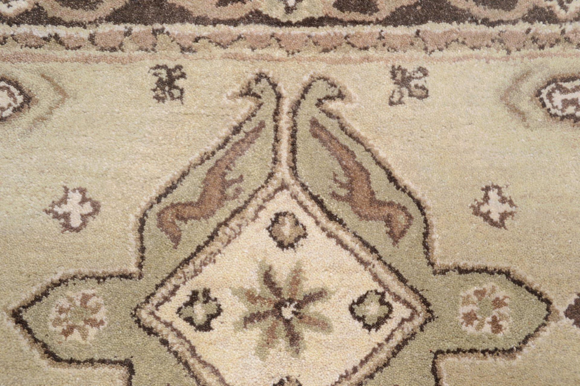 Handtuftteppich Royal Kazak Theko Textil braun