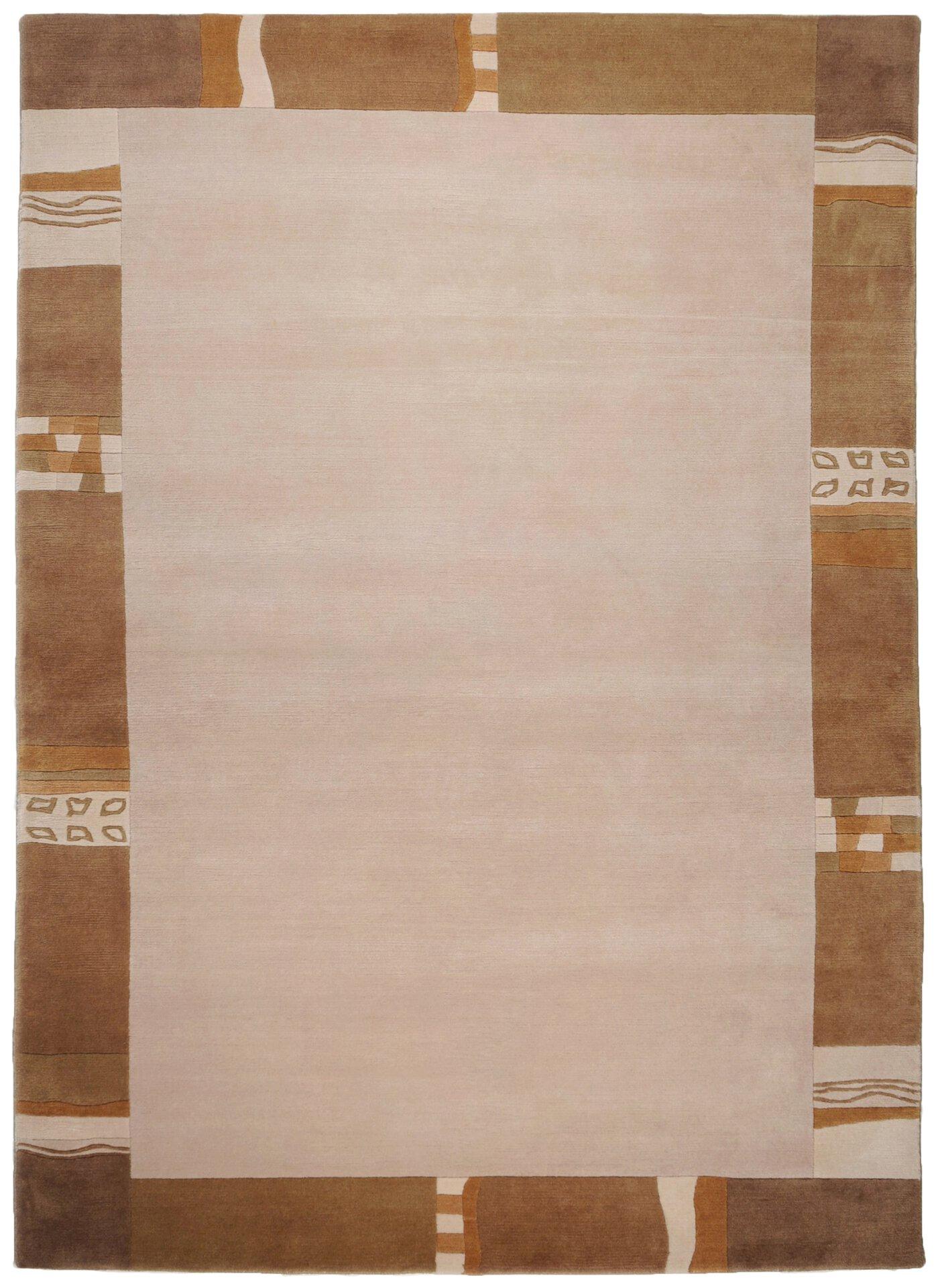 Handknüpfteppich Nepalus Theko Textil braun 1 x 1 cm