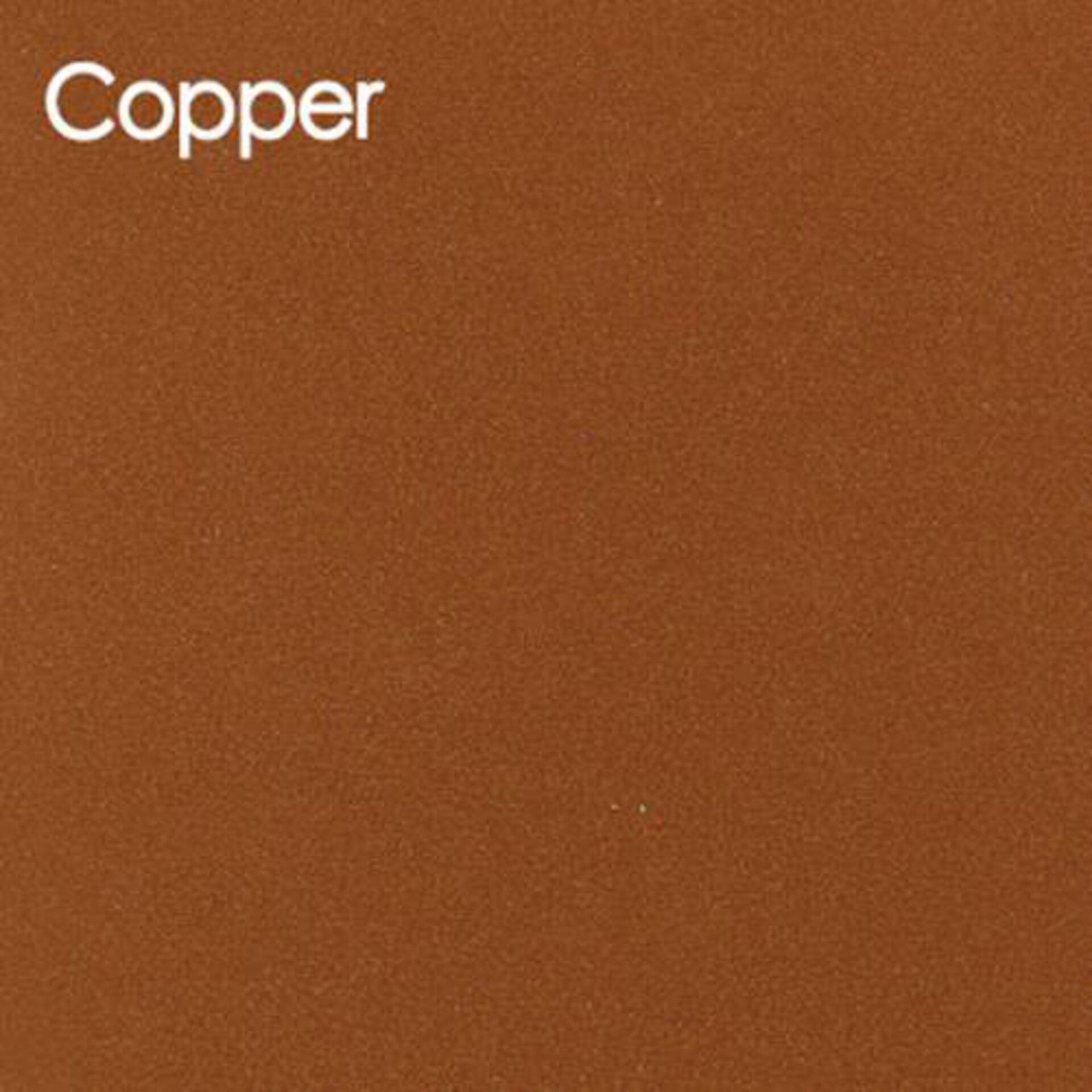 Arbeitsplatte aus Glas im Farbton Kupfer