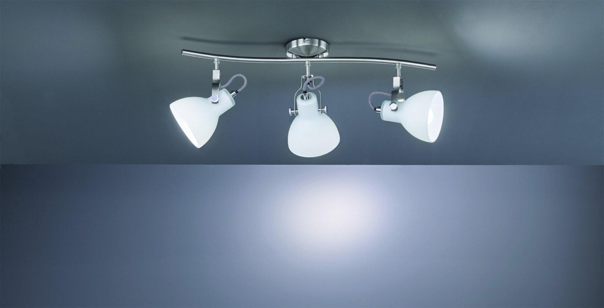Deckenleuchte Ginelli Trio Leuchten Metall silber 12 x 22 x 60 cm