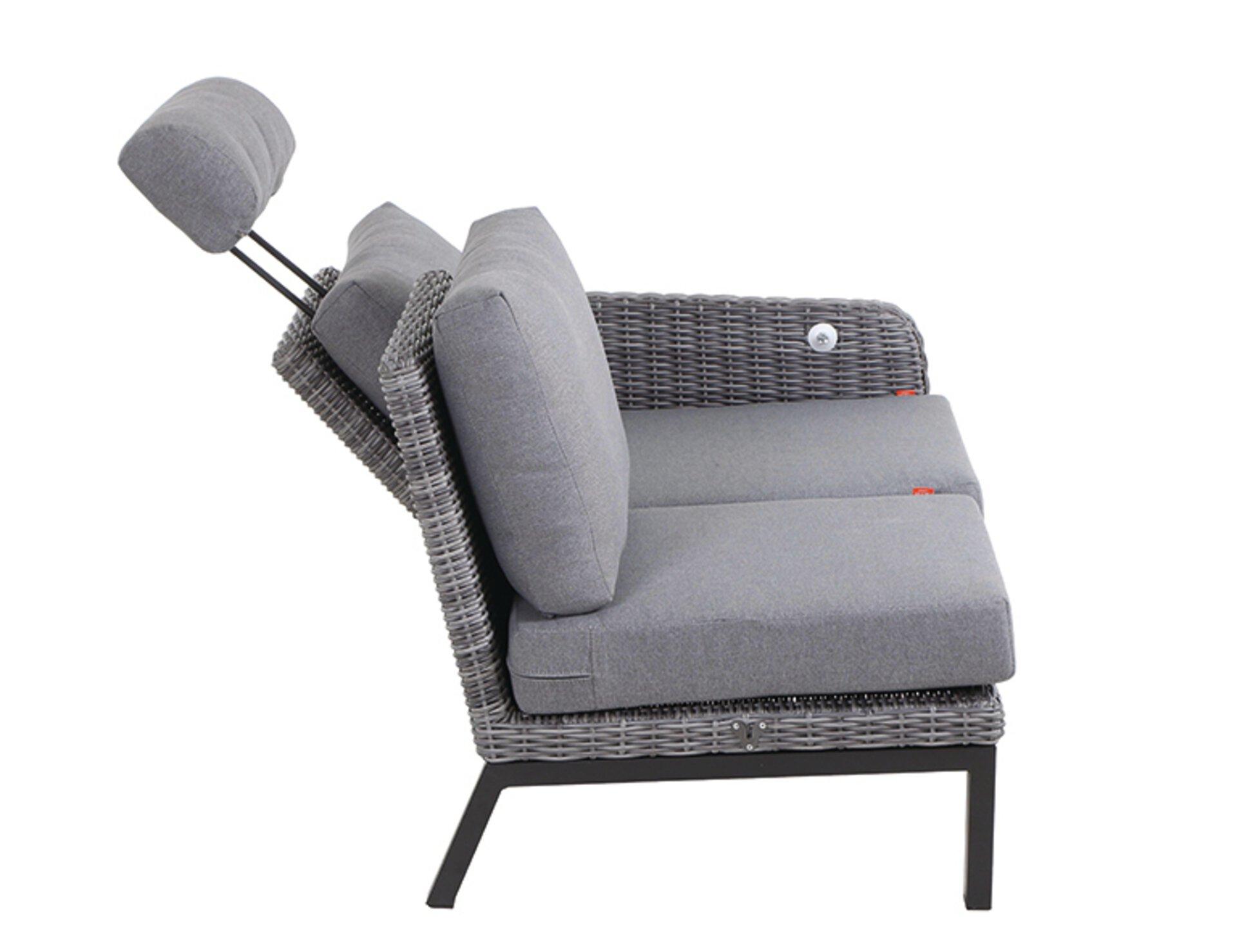 Sofa 2-Sitzer BELLANI Siena Garden Metall 83 x 62 x 135 cm