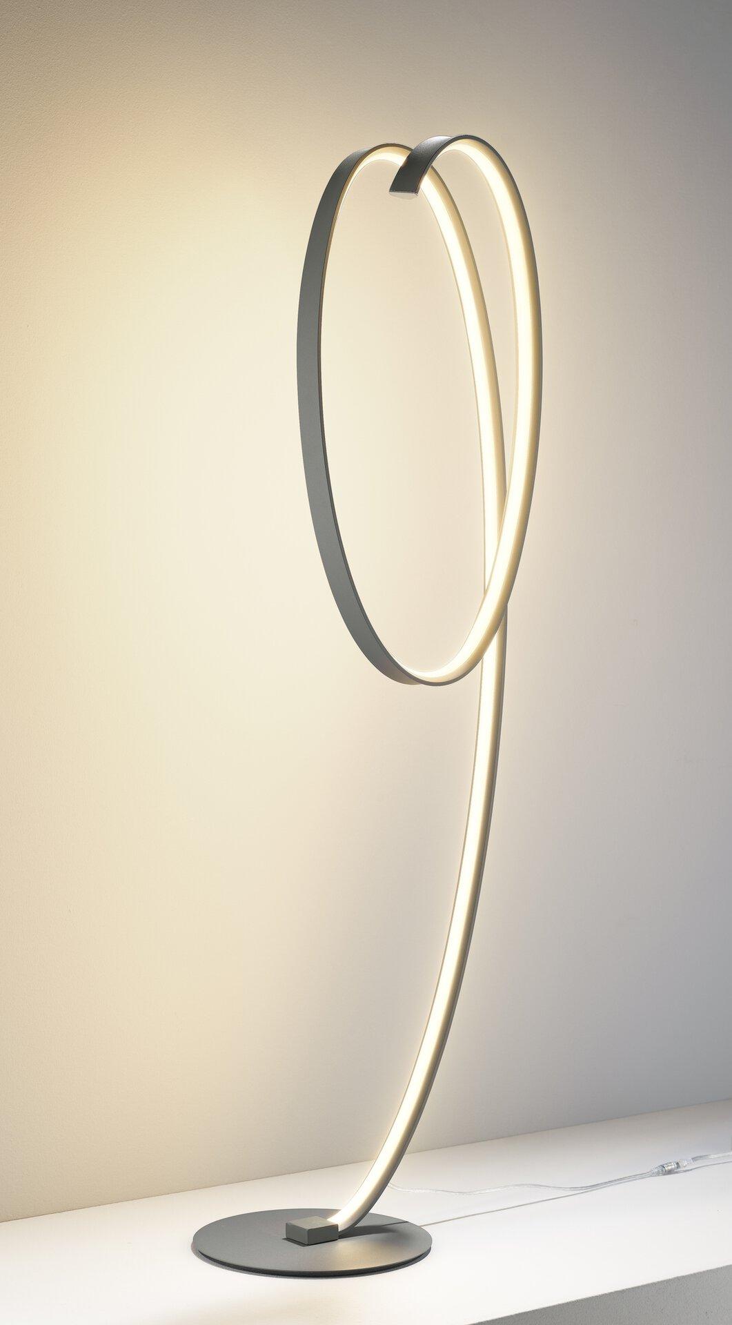 Stehleuchte Fito MONDO Metall grau 30 x 120 x 26 cm