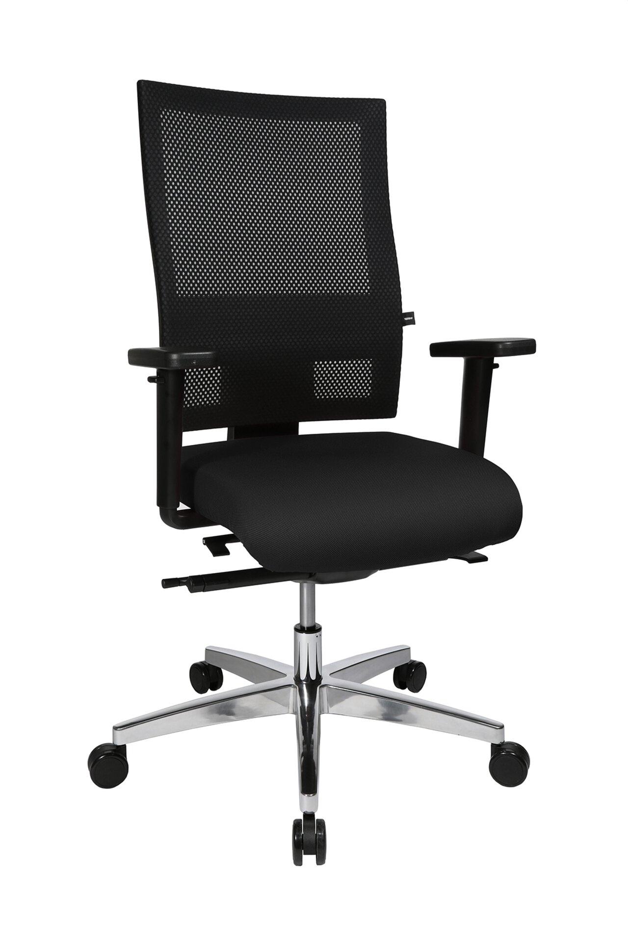 Büro-Drehstuhl SITNESS PROFI 200 Topstar Textil schwarz 64 x 113 x 59 cm