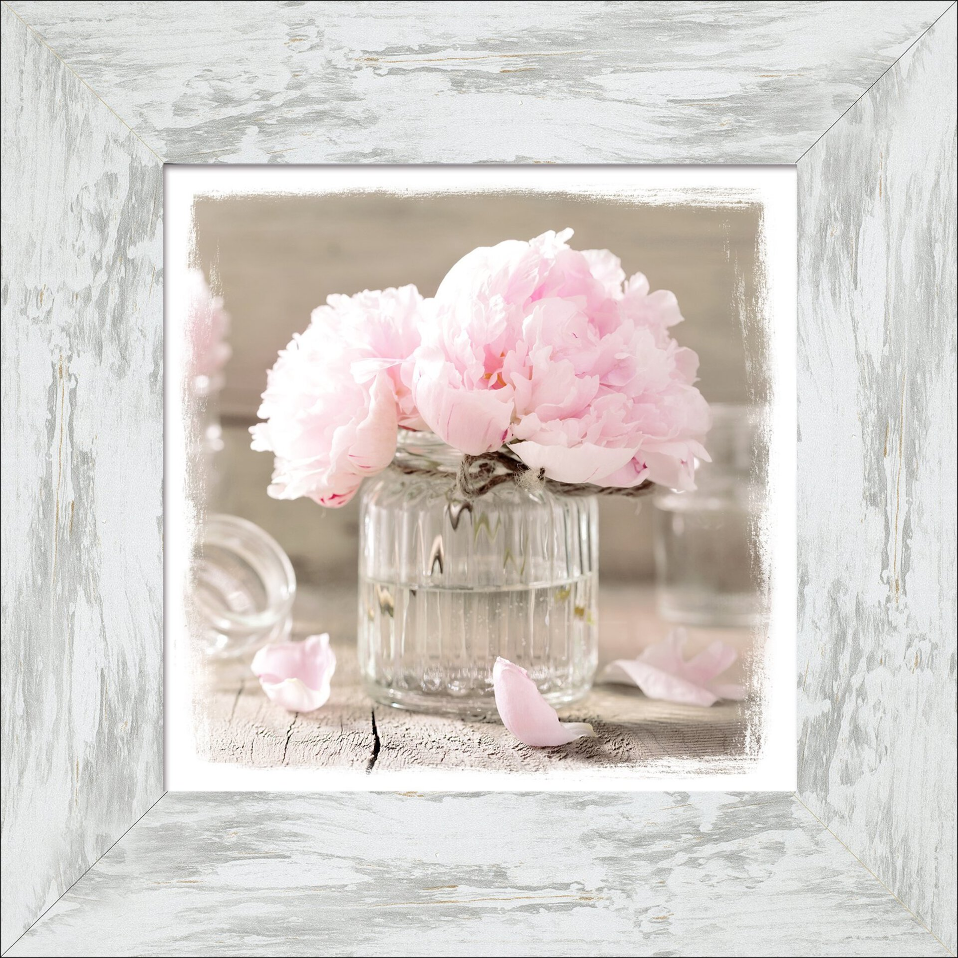 Bild Rose Flowers Pro-Art Holzwerkstoff 44 x 44 x 1 cm