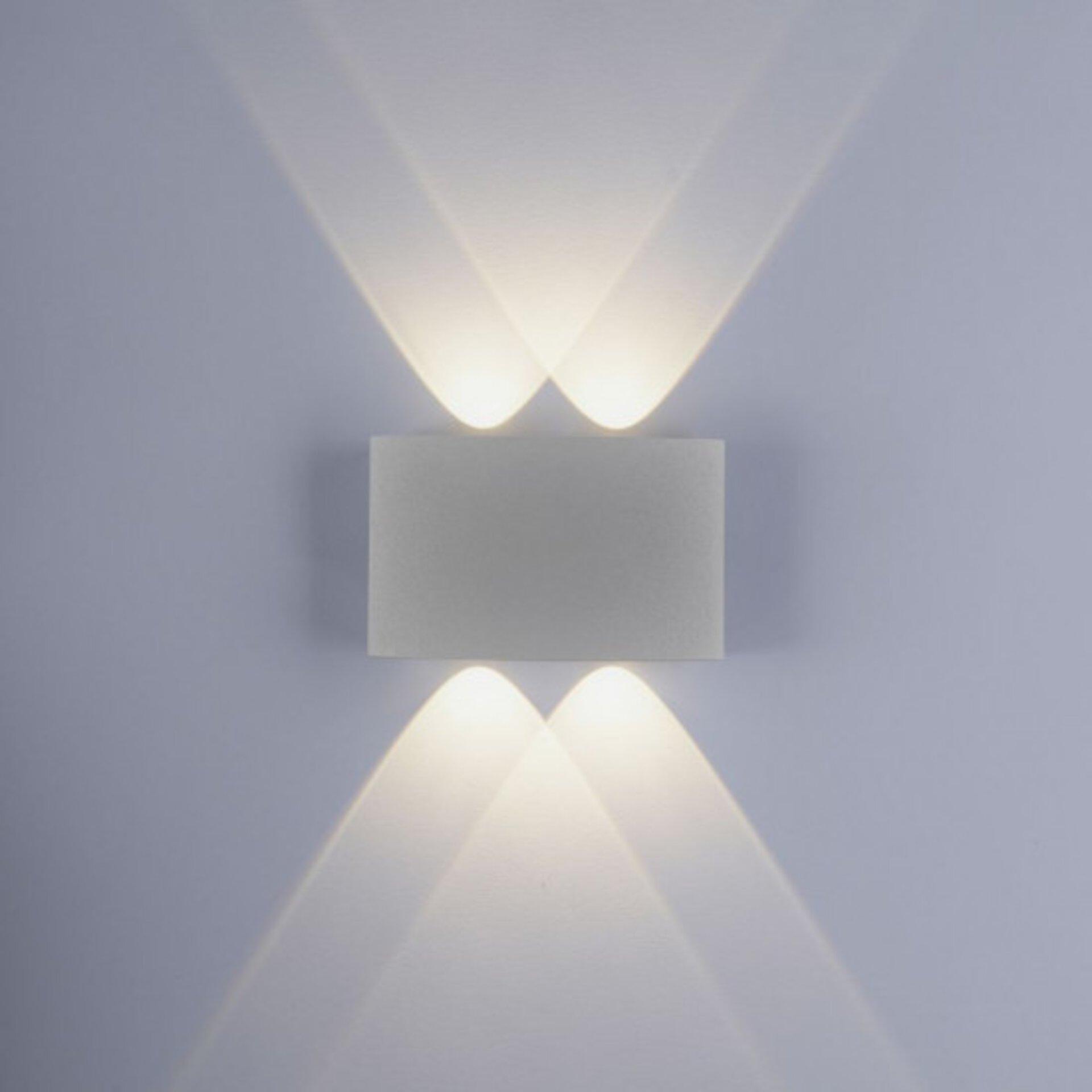 Wandleuchte CARLO Paul Neuhaus Metall silber 4 x 8 x 13 cm