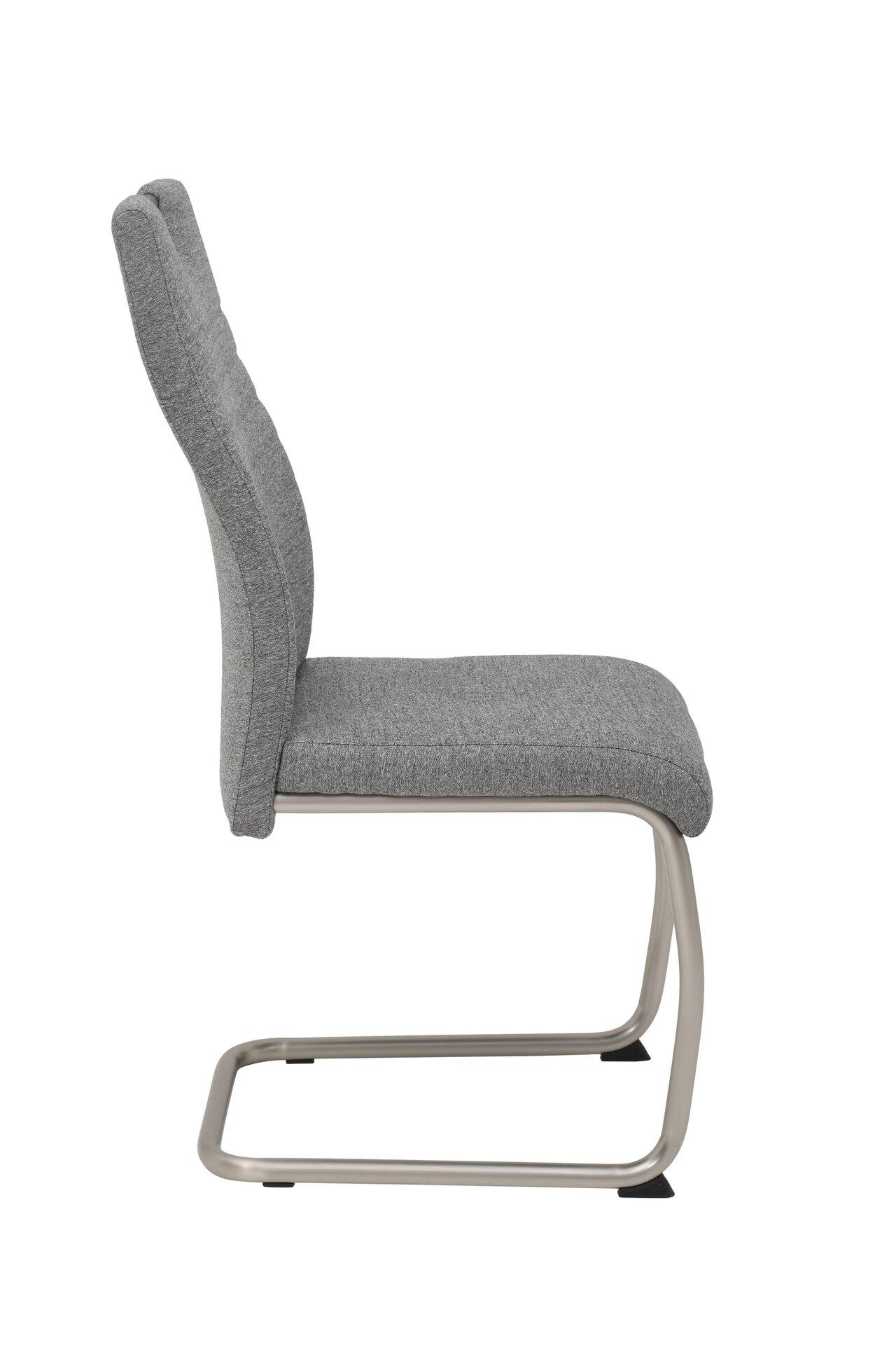 Freischwingerstuhl MALIN S Dinett Textil grau 57 x 97 x 44 cm