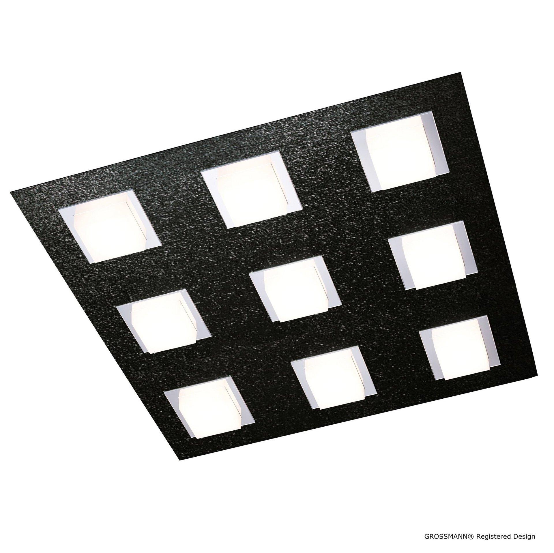 Deckenleuchte basic Grossmann Metall schwarz 45 x 5 x 45 cm