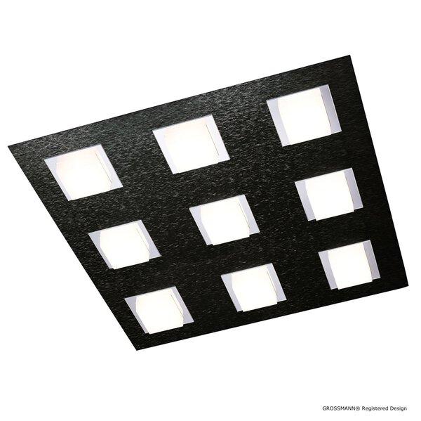 Deckenleuchte Grossmann  Metall schwarz ca. 45 cm x 5 cm x 45 cm