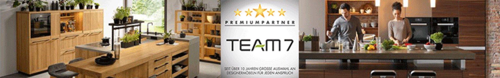Bannerbild zu hochwertigen Küchen aus Naturholz der Marke team7
