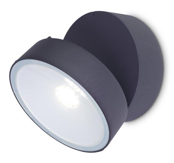 Wand-Aussenleuchte Eco-Light  Metall anthrazit ca. 15 cm x 9 cm x 15 cm