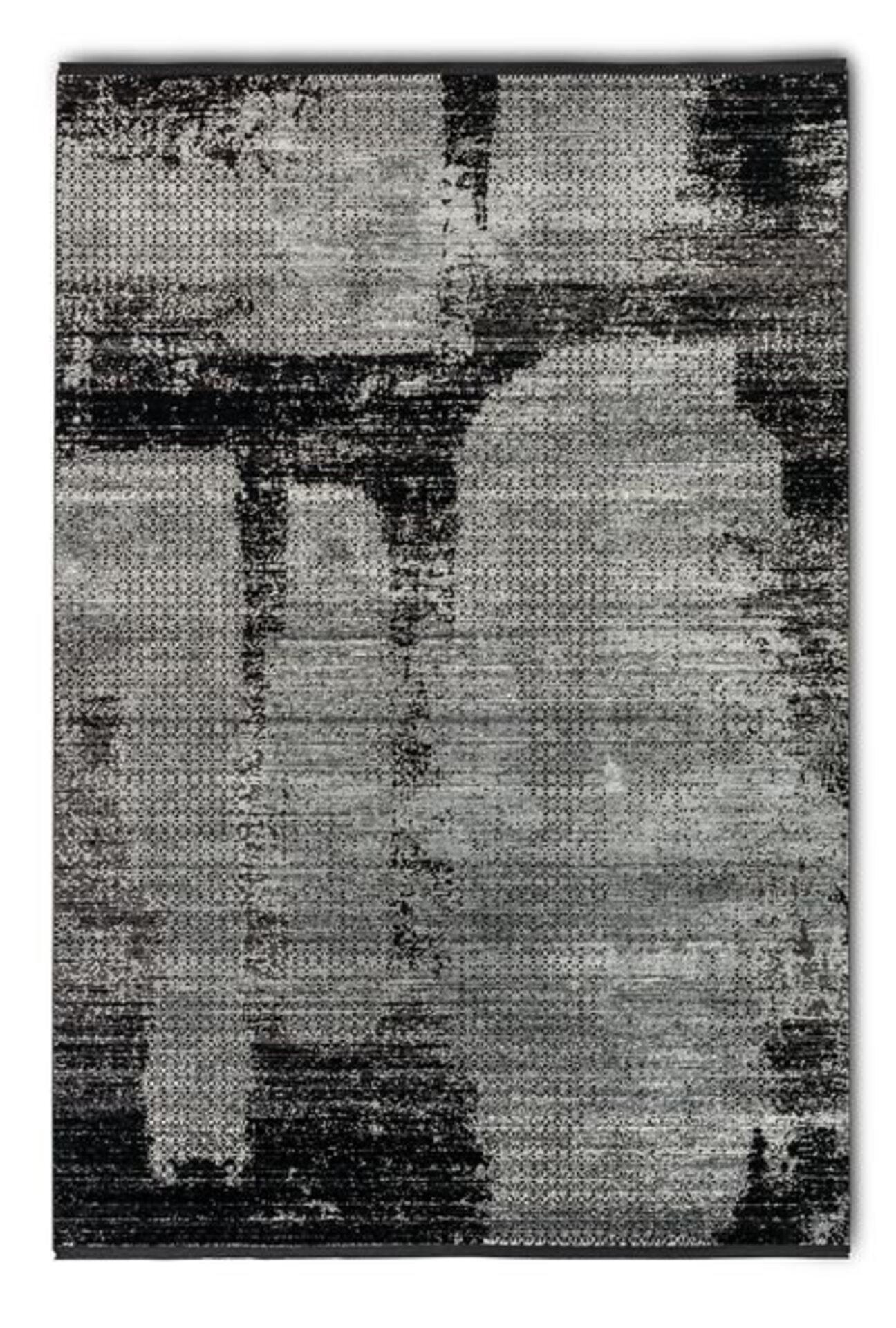 Maschinenwebteppich Grandezza Astra Textil schwarz 1 x 2 cm