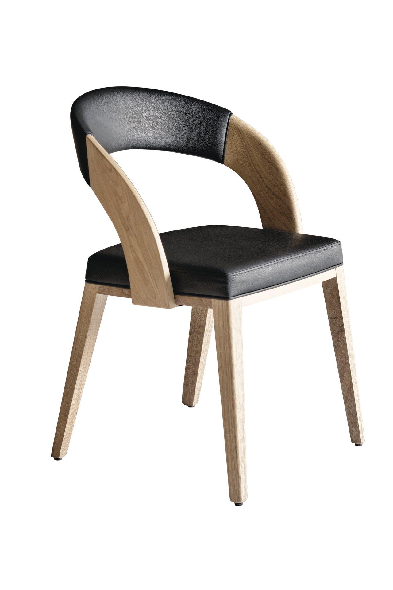Stuhl V-CUBE Voglauer Leder mehrfarbig 57 x 82 x 57 cm