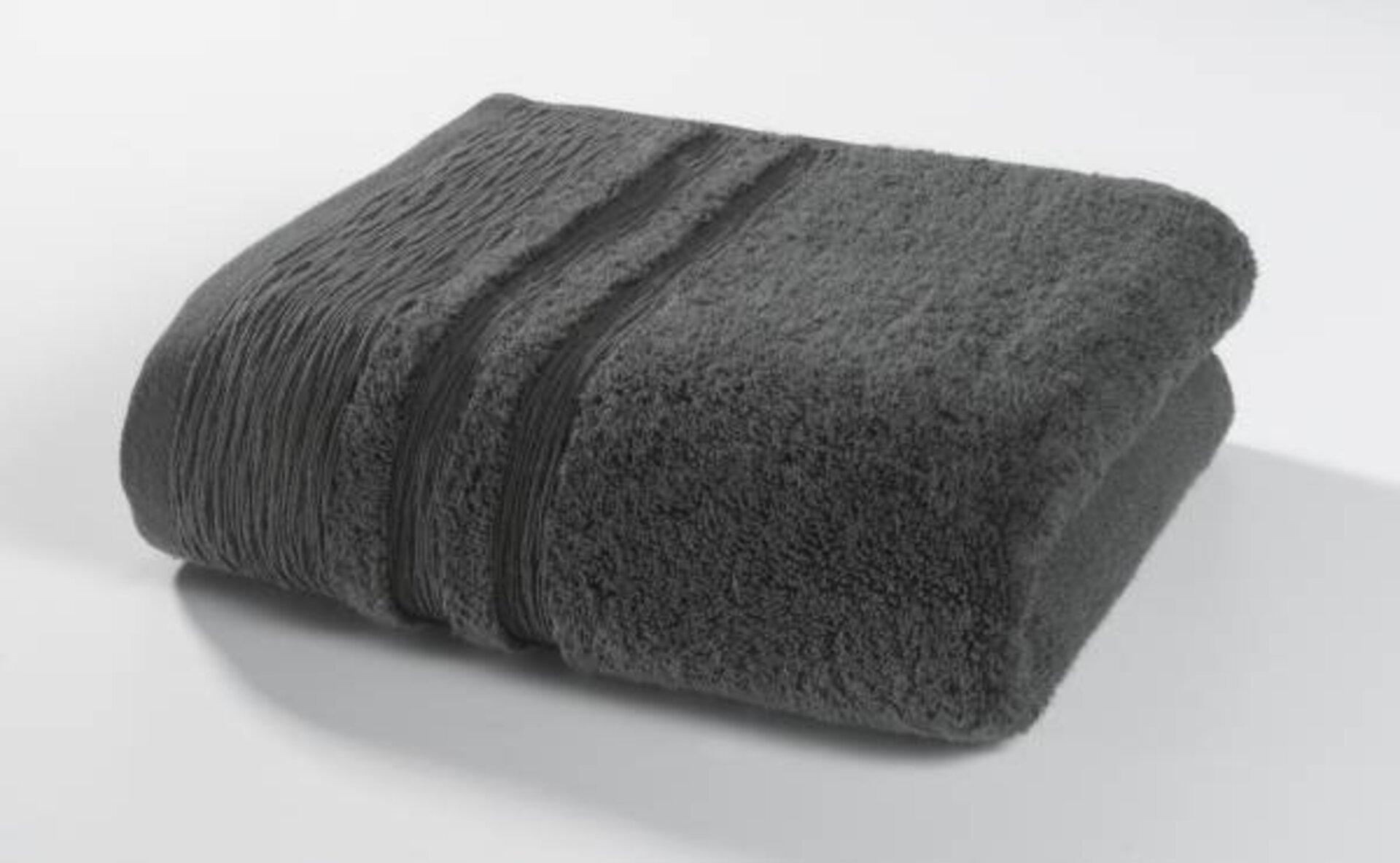Gästetuch Organic Kenborg Textil grau 30 x 50 cm