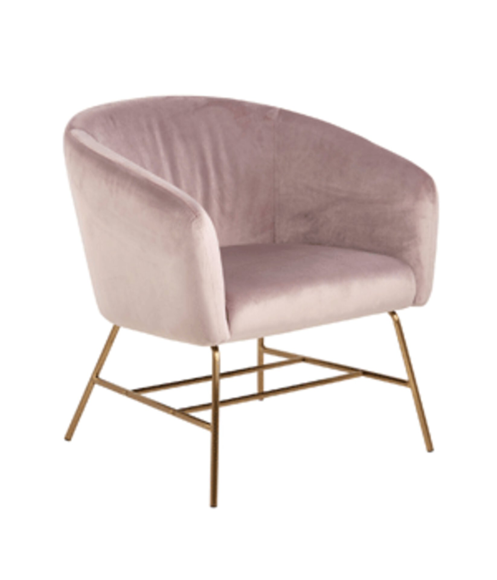 hellrosa Sessel mit goldenen Beinen