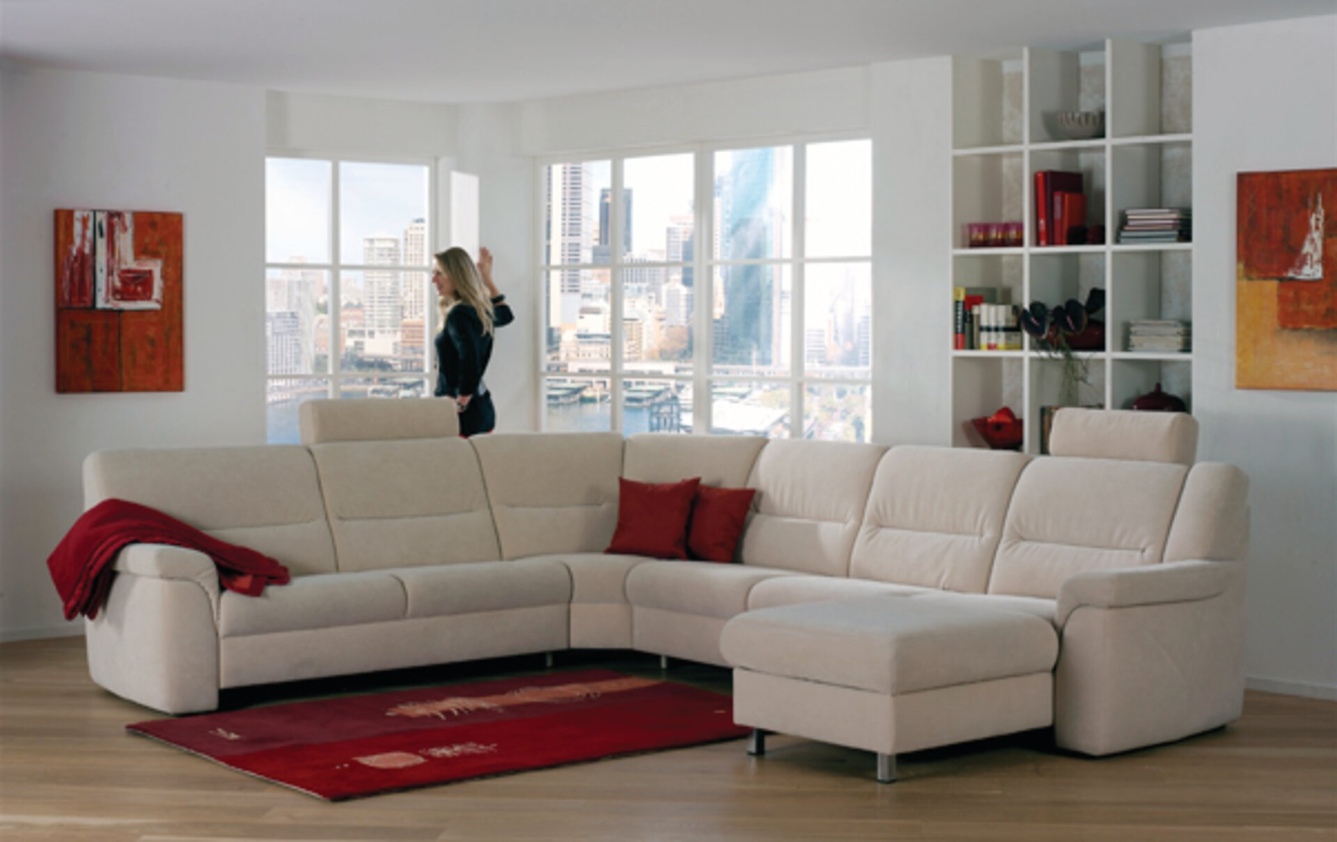 Elementgruppe 1101 BPW Textil beige 227 x 252 x 165 cm