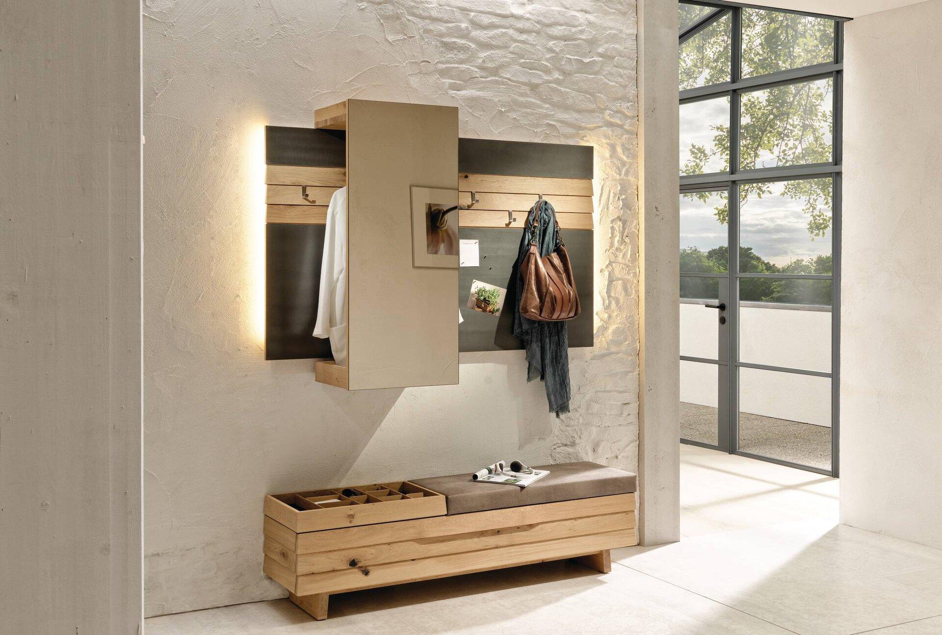 Garderobe V-ORGANO Voglauer Holzwerkstoff 41 x 114 x 160 cm