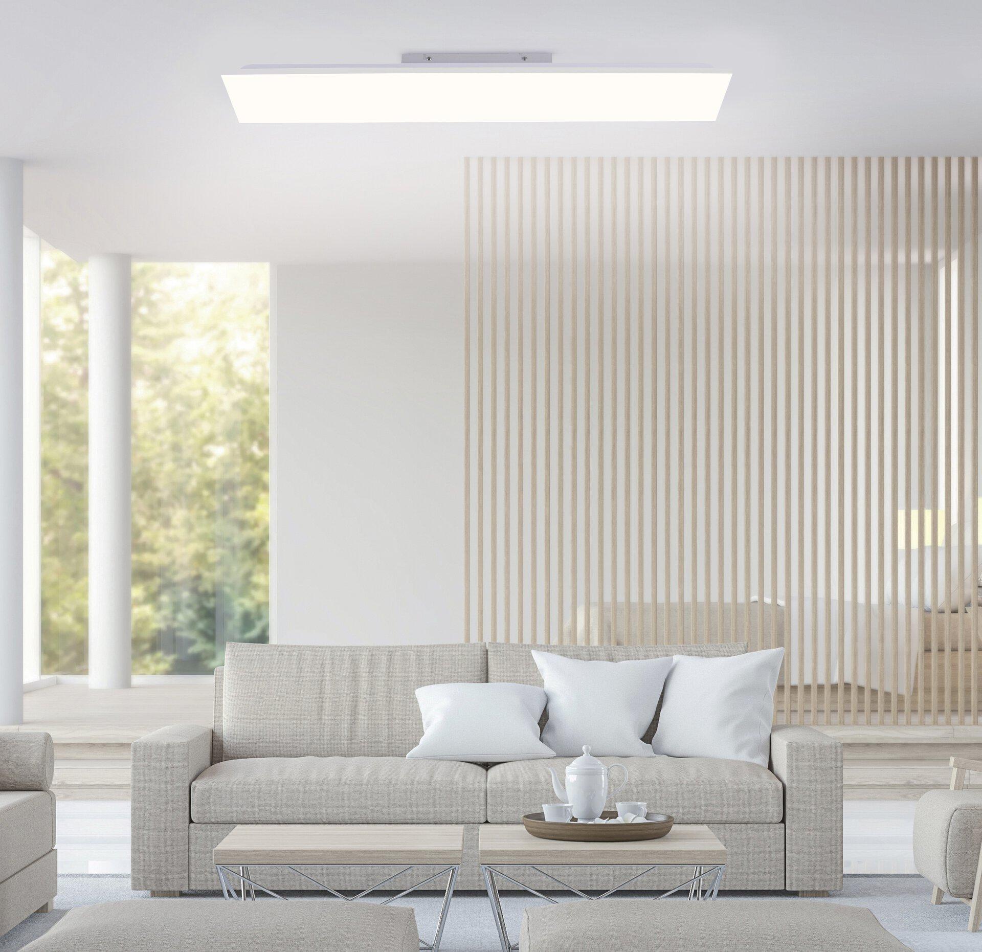 Deckenleuchte CANVAS Leuchtendirekt Metall weiß 25 x 6 x 100 cm