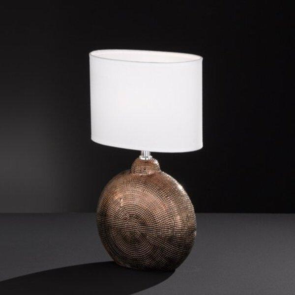 Tischleuchte Fischer-Honsel  Keramik kupfer, chrom ca. 13 cm x 36 cm x 23 cm