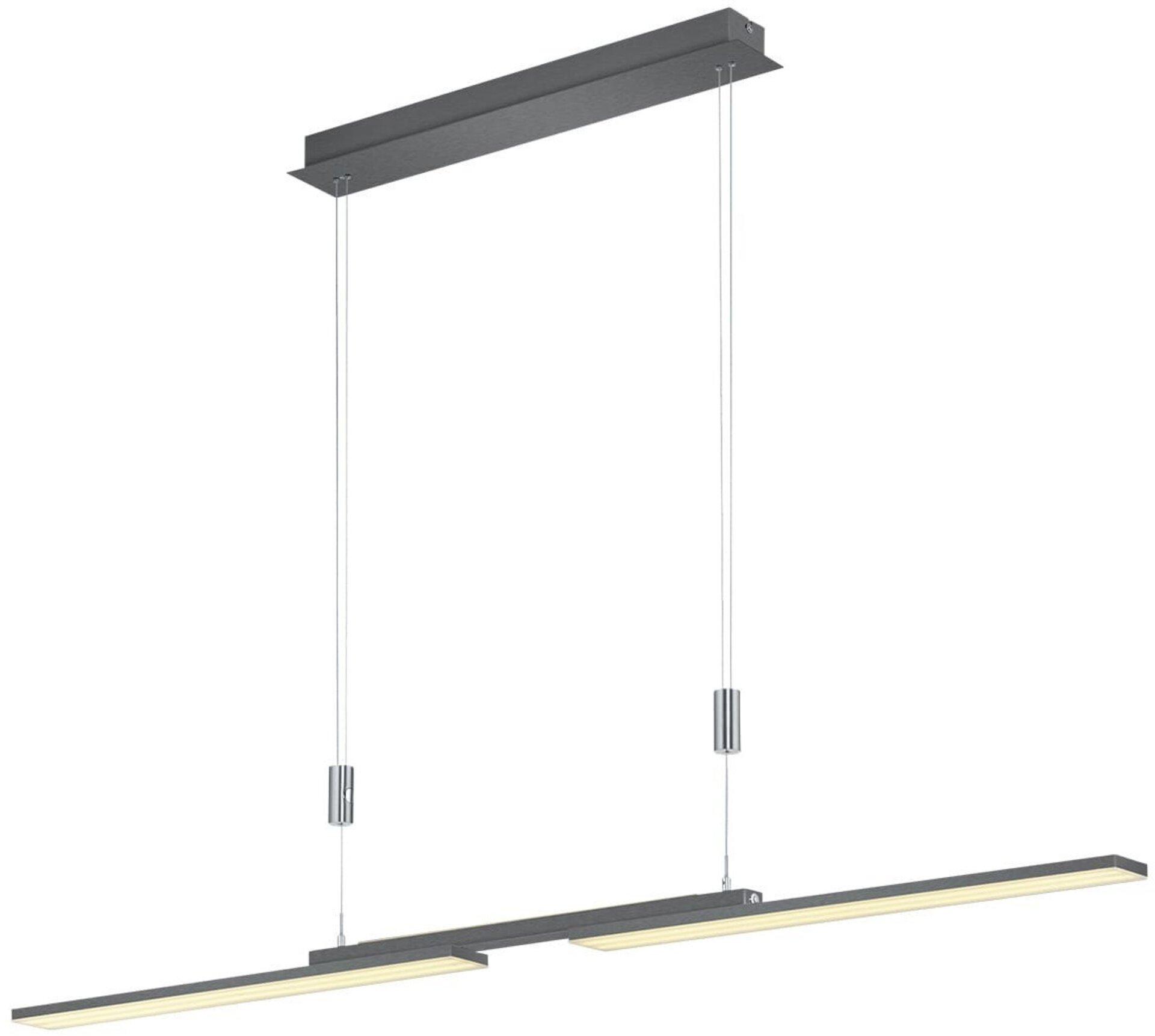 Hängeleuchte LESS B-Leuchten Metall grau 6 x 150 x 130 cm