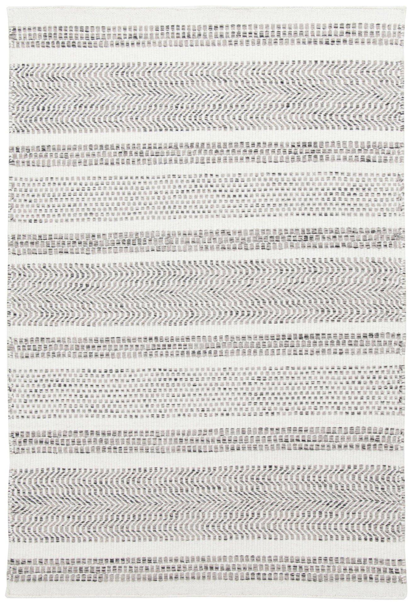 Handwebteppich Trondheim Theko Textil grau 1 x 1 cm