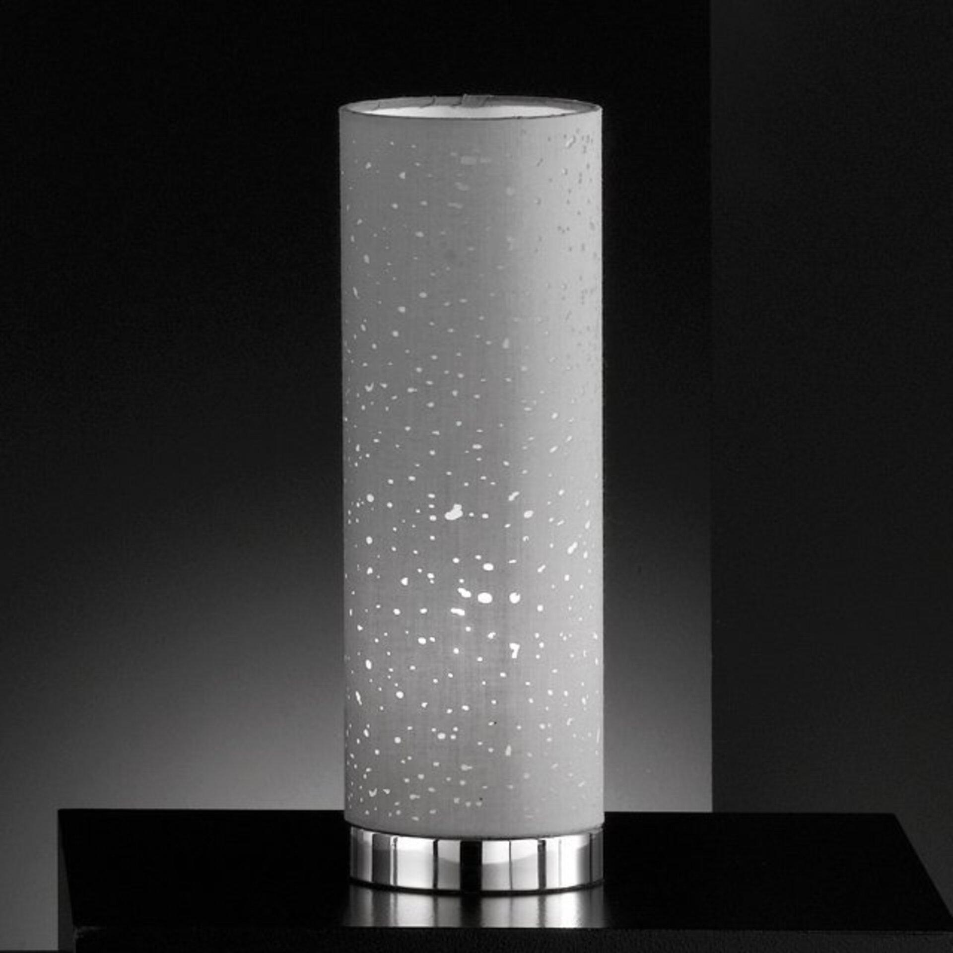 Tischleuchte Thor Fischer-Honsel Metall silber 12 x 35 x 12 cm