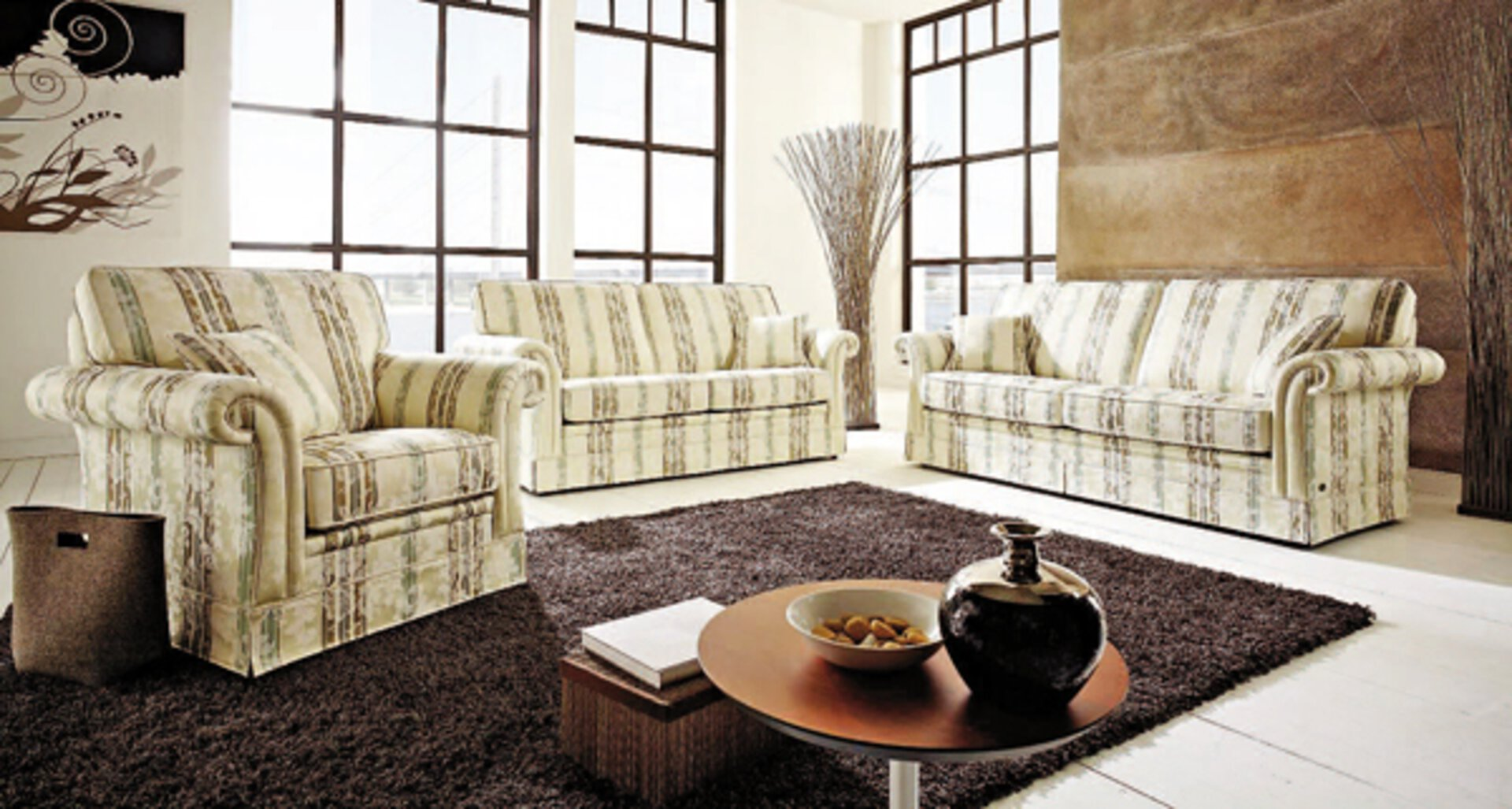 Sofa 2-Sitzer IMPERIAL Schröno Textil 90 x 88 x 153 cm
