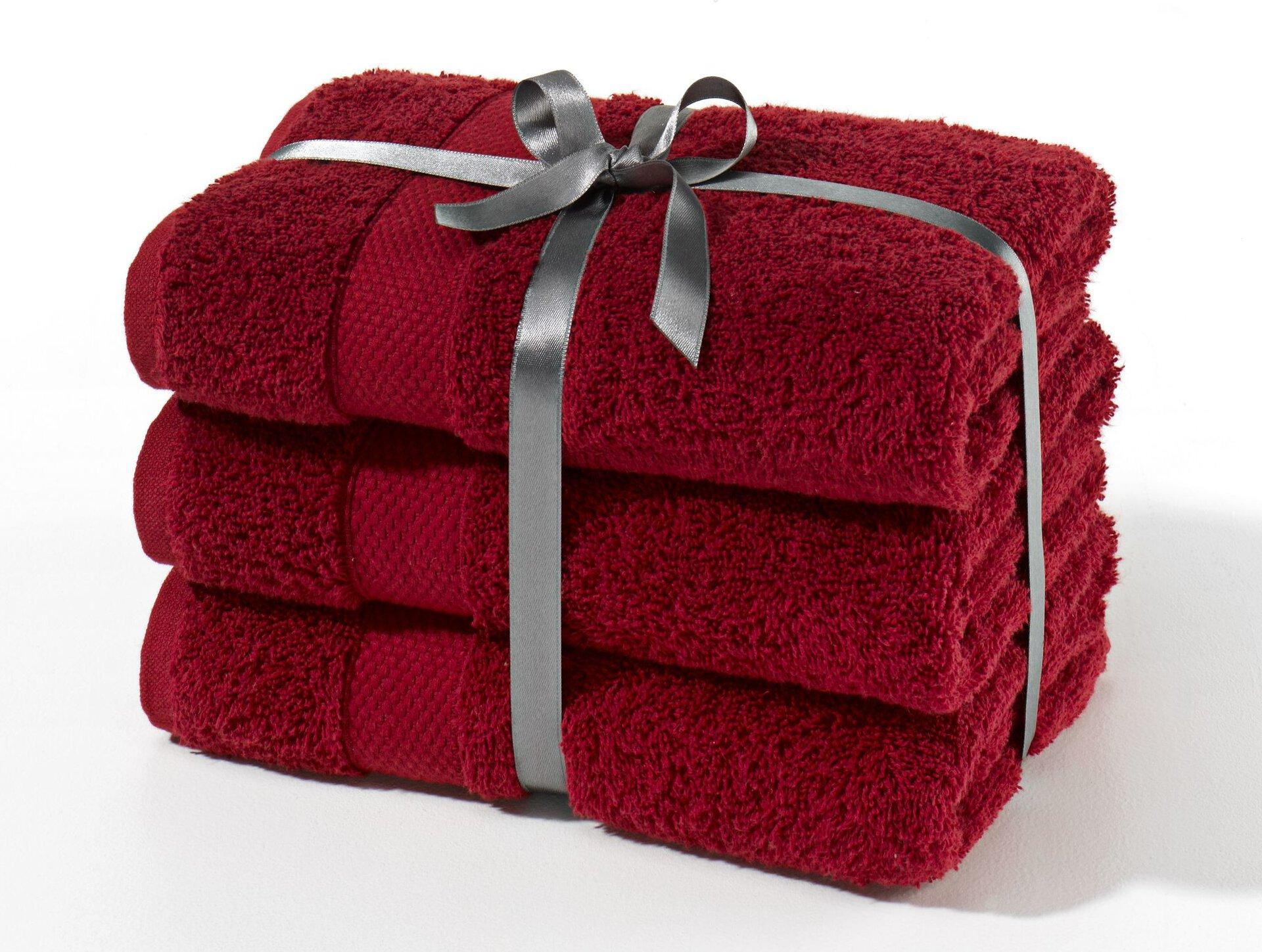 Handtuch Frottierset Casa Nova Textil rot 50 x 100 cm